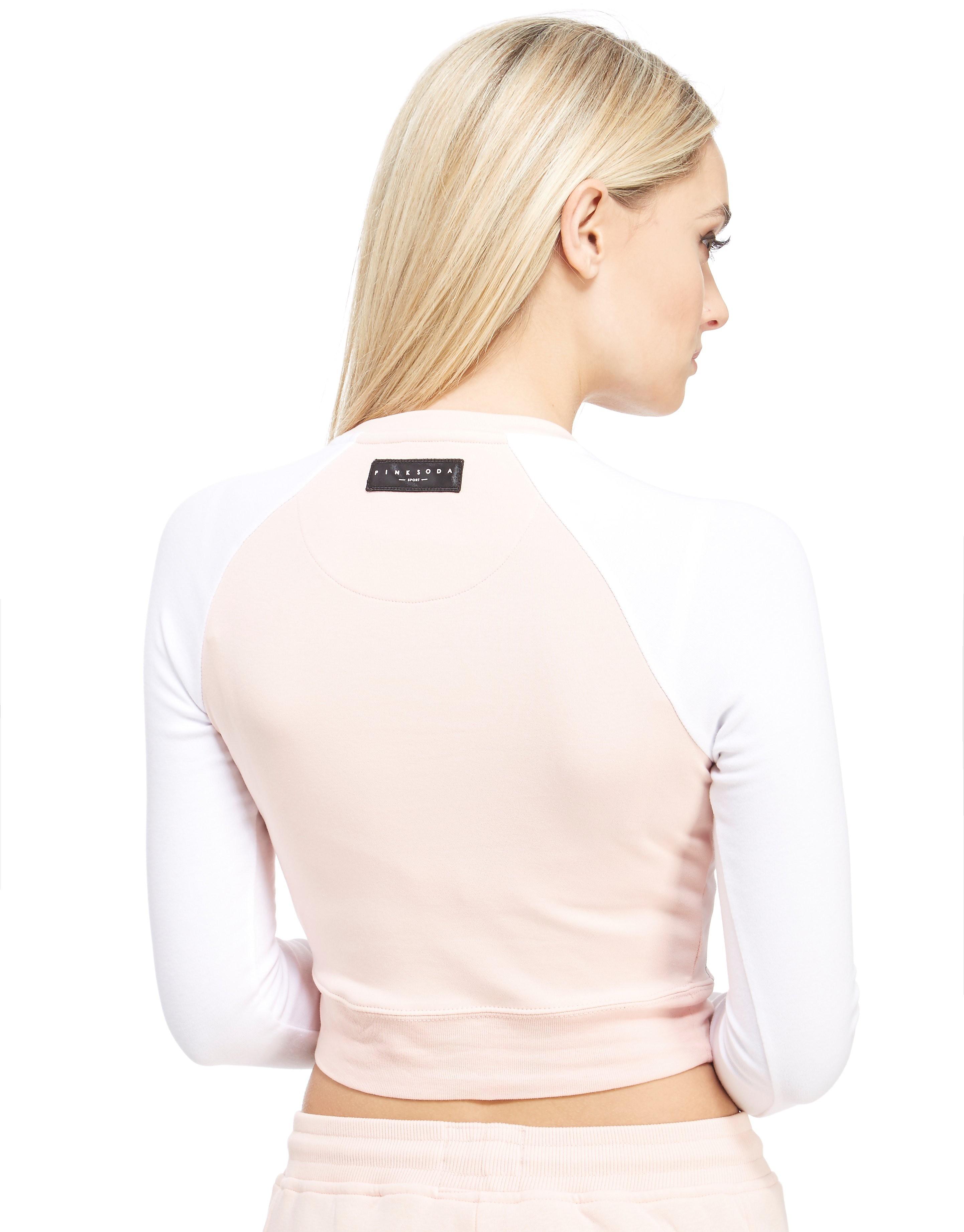 Pink Soda Sport Longsleeve Crop Rib T-Shirt