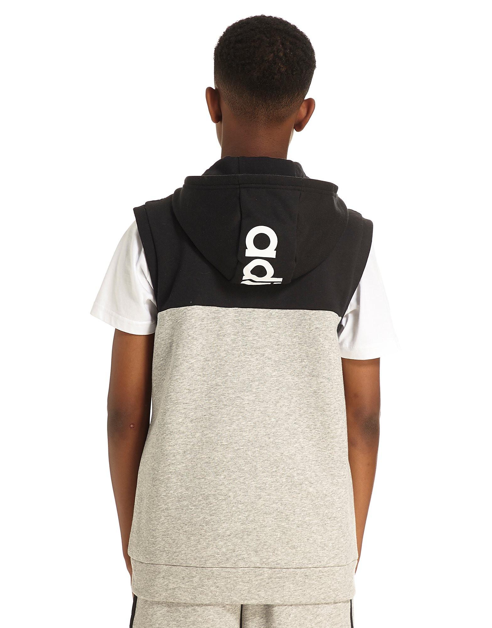 adidas Linear Sleeveless Hoodie Junior