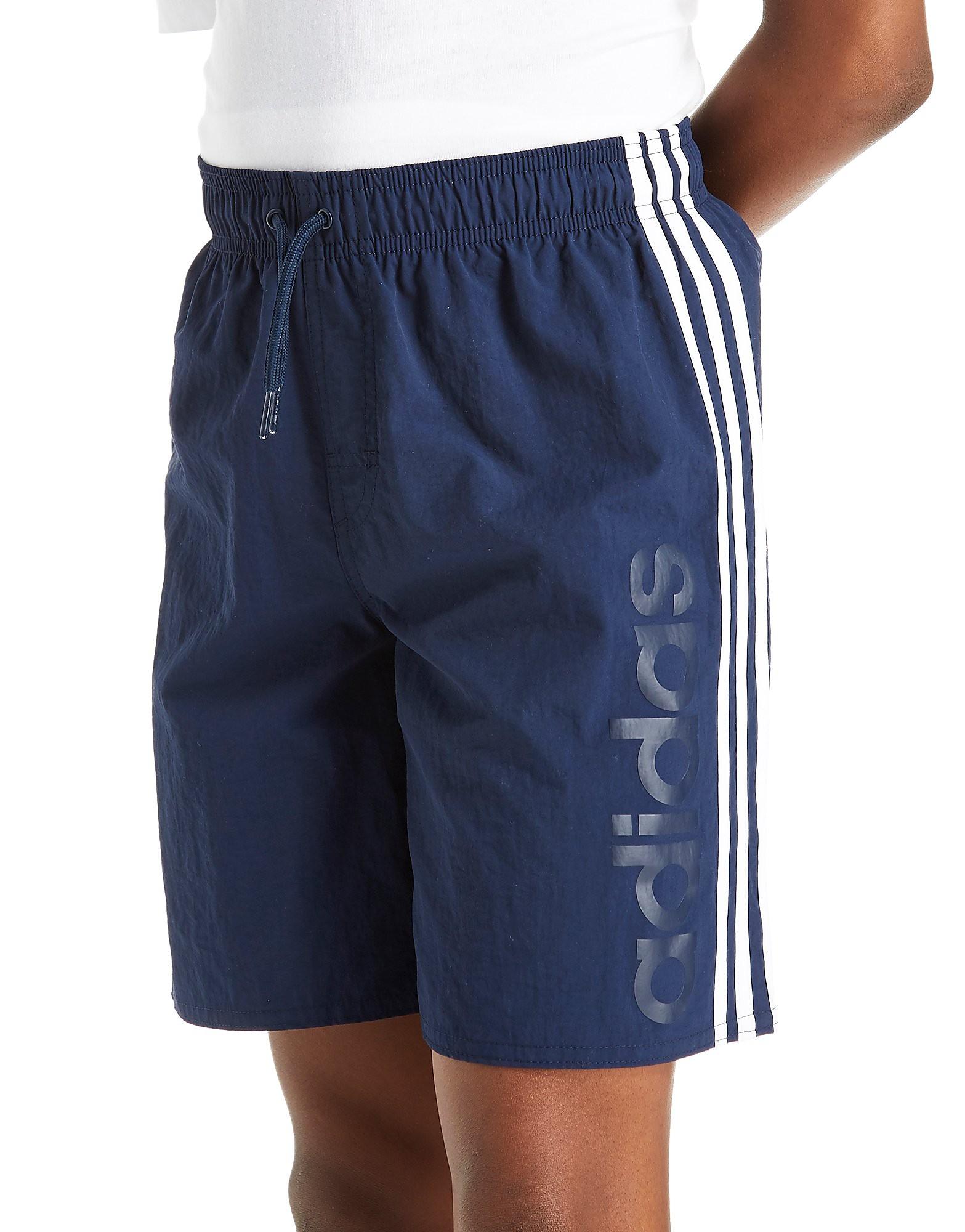 adidas Short de bain Linear junior - Navy/White, Navy/White