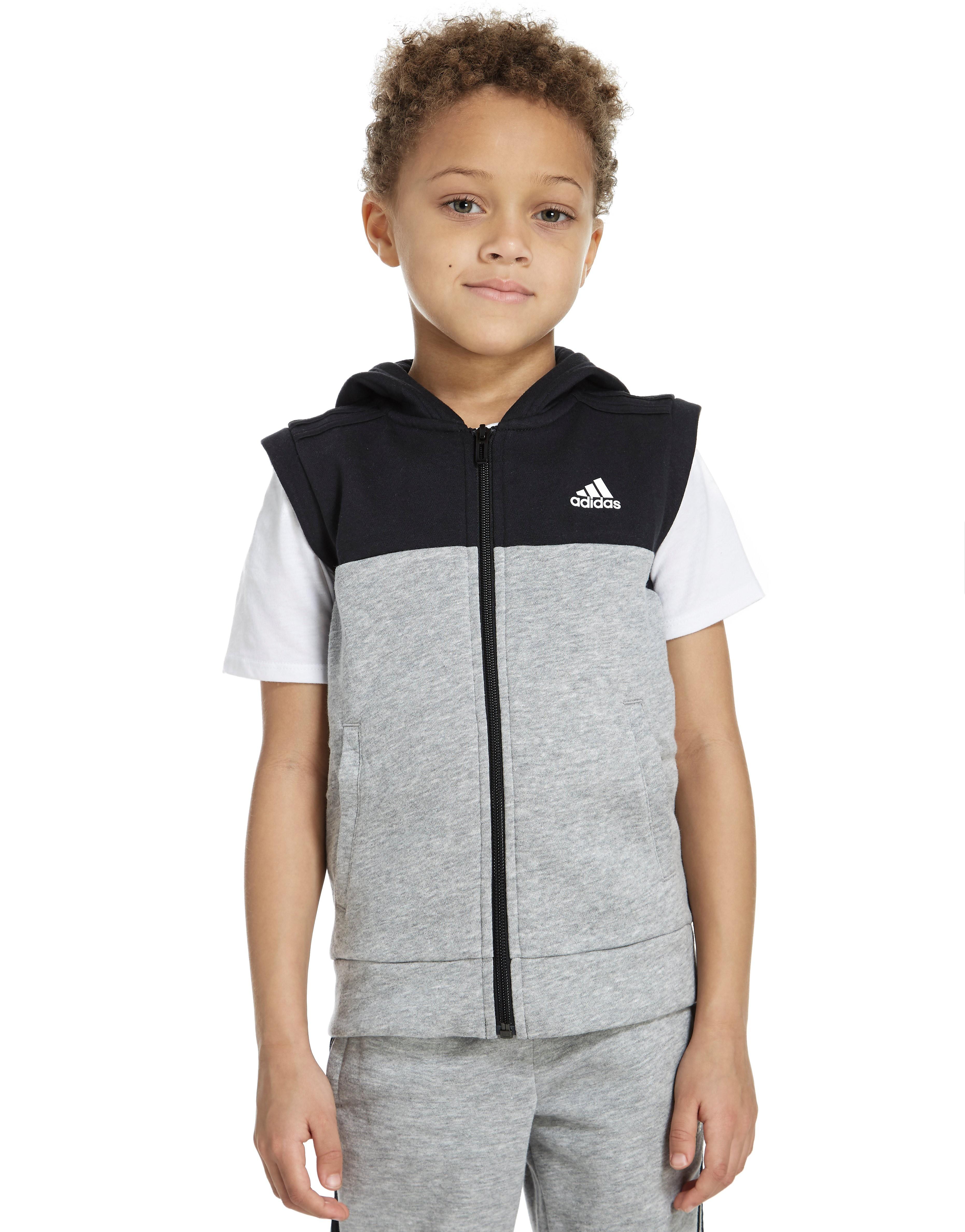 adidas Linear Sleeveless Hoodie Children