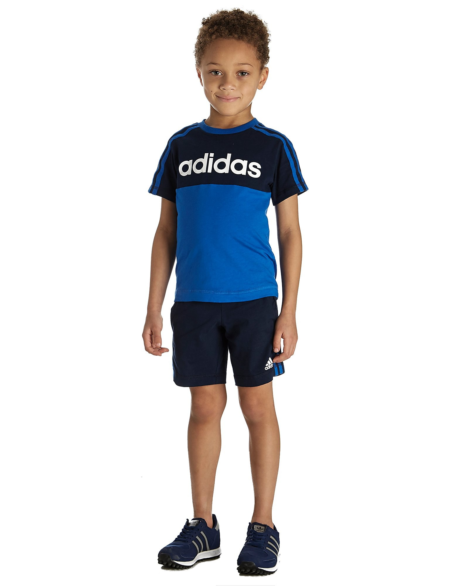 adidas Linear T-Shirt/Shorts Set Children