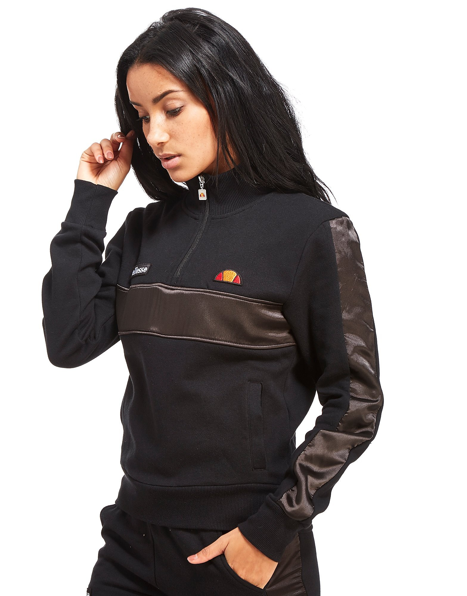Ellesse Satin Half Zip Track Top