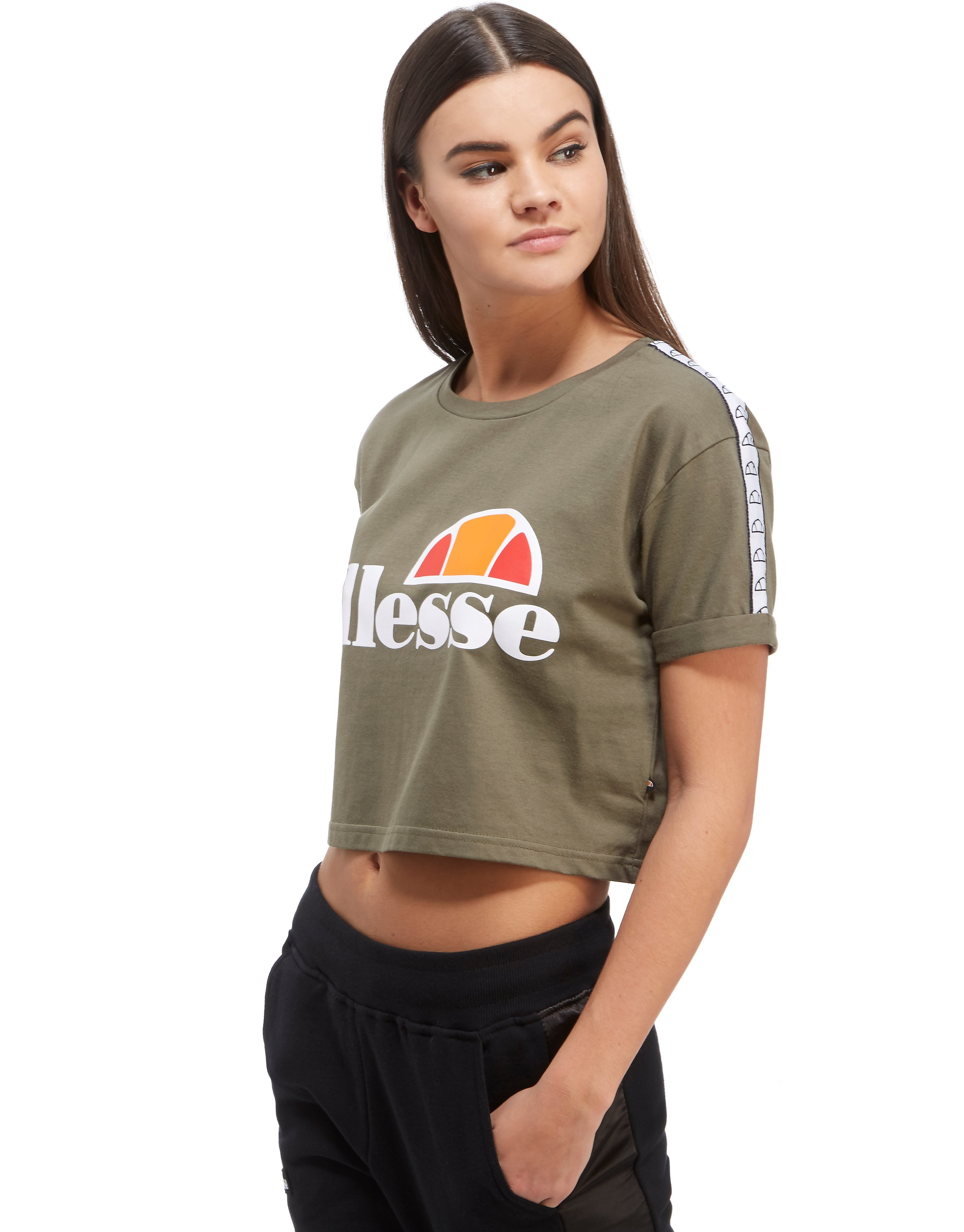 Ellesse Tape Crop T-Shirt