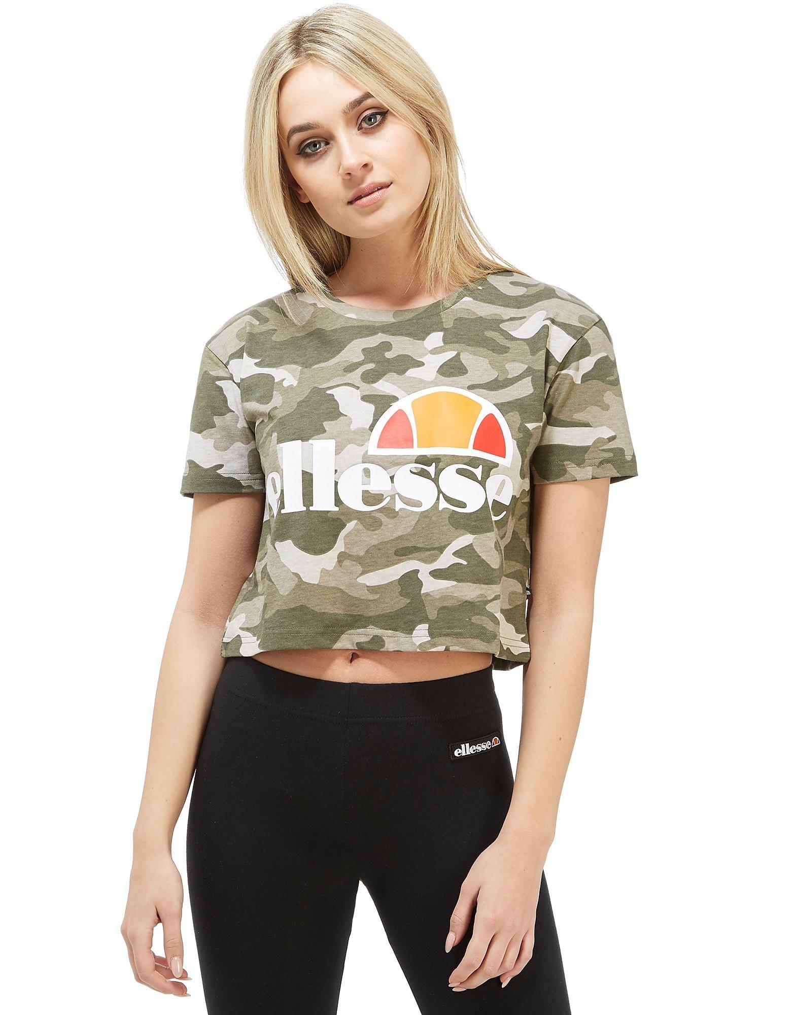 Ellesse Crop Camo T-Shirt