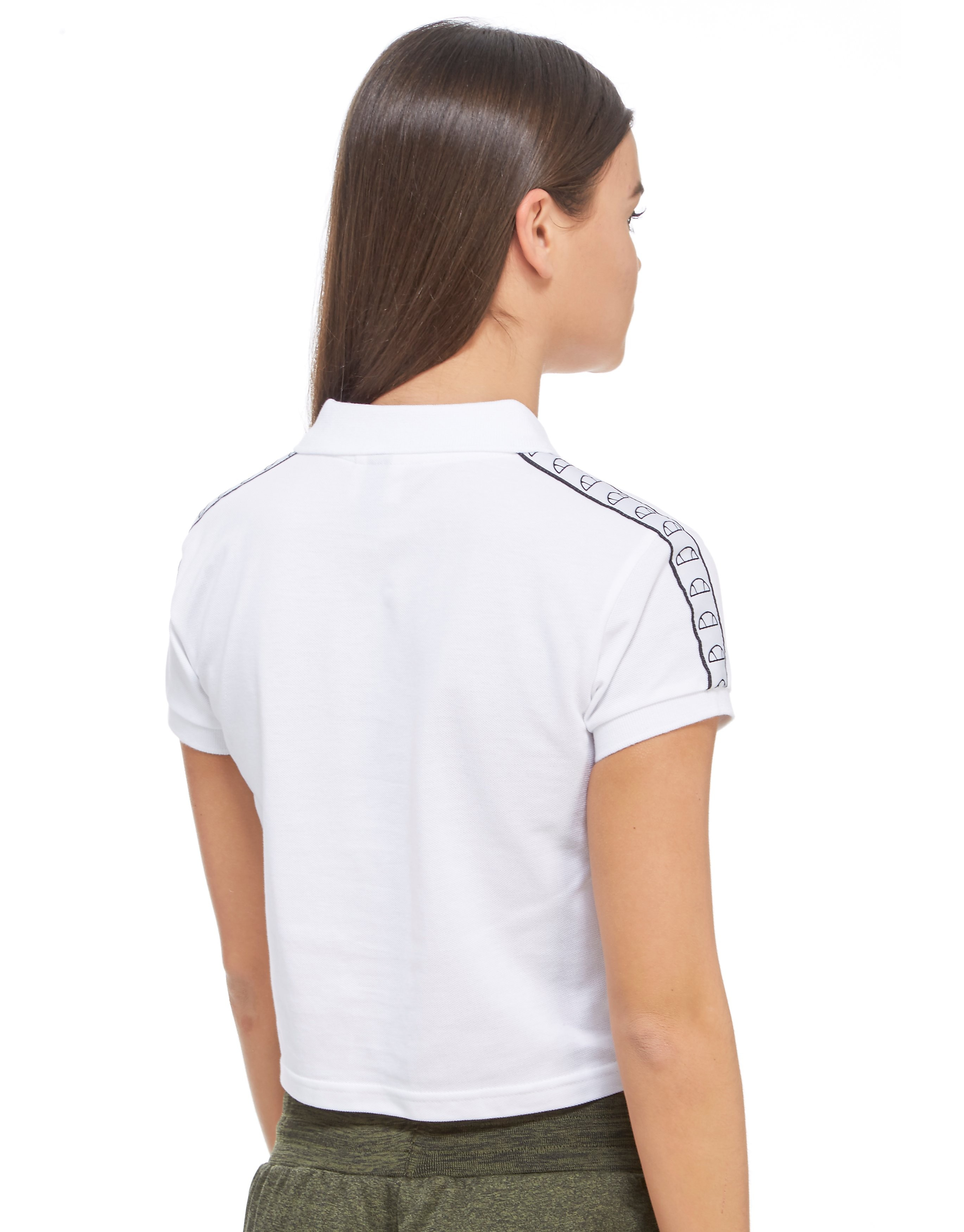Ellesse Marsa Tape Crop Polo Shirt