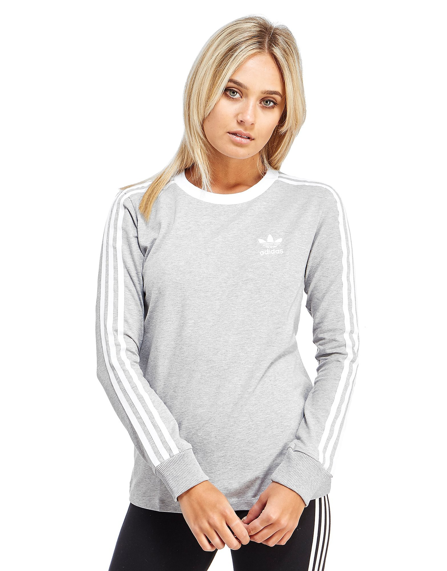 adidas Originals 3 Stripe Long-Sleeved T-Shirt