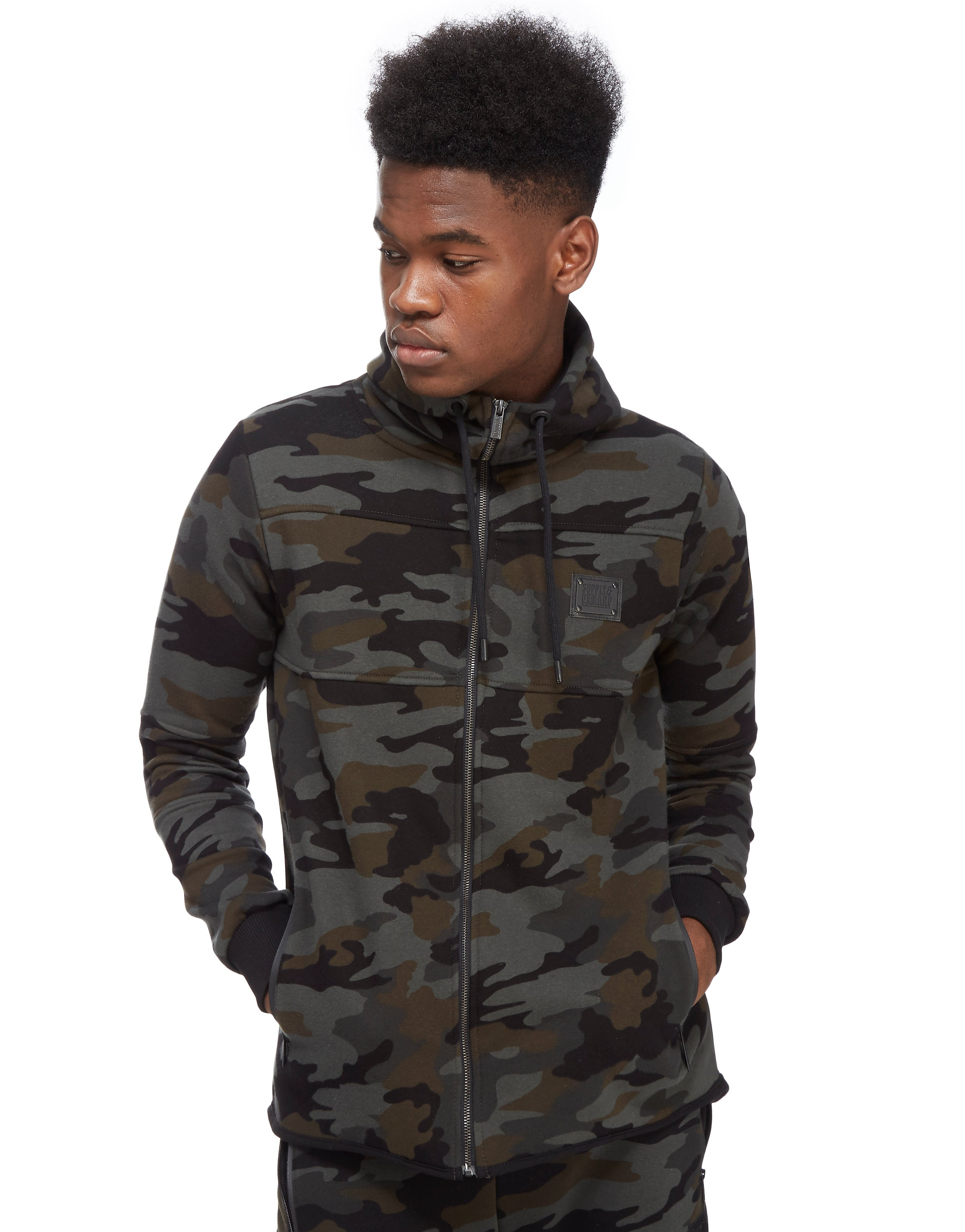 Supply & Demand Green Camo Hoody