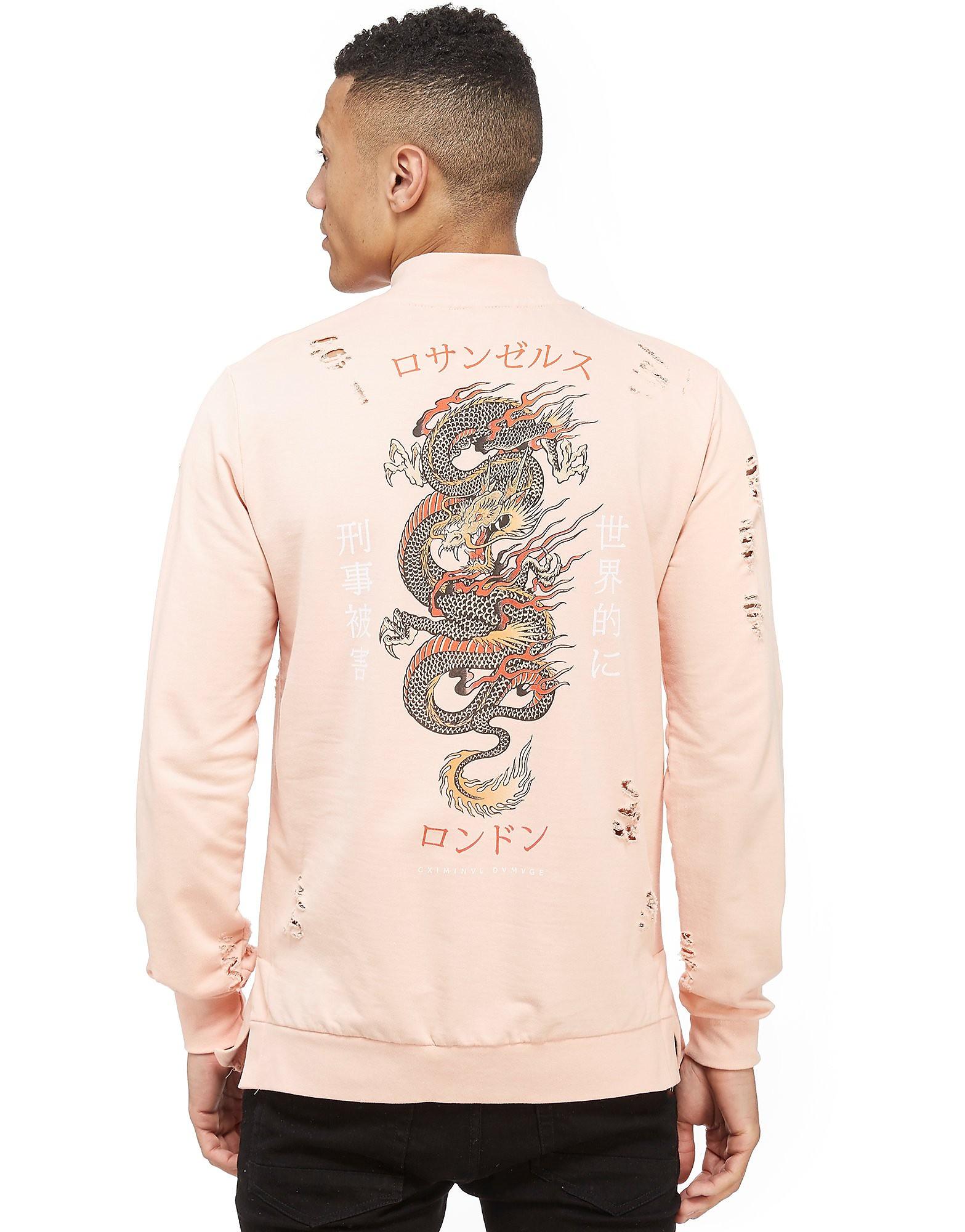 Criminal Damage Dragon Distress Sweatshirt