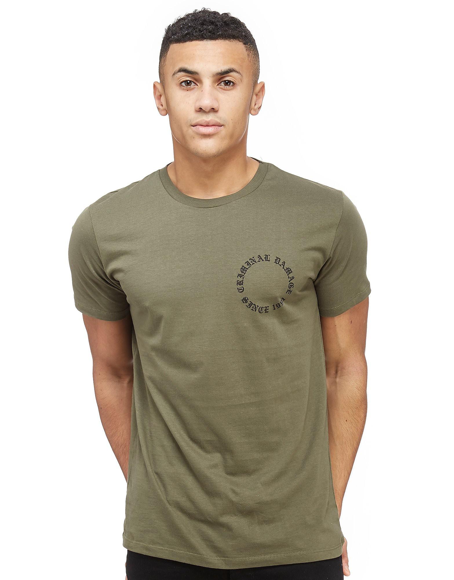 Criminal Damage Dragon Back Print T-Shirt