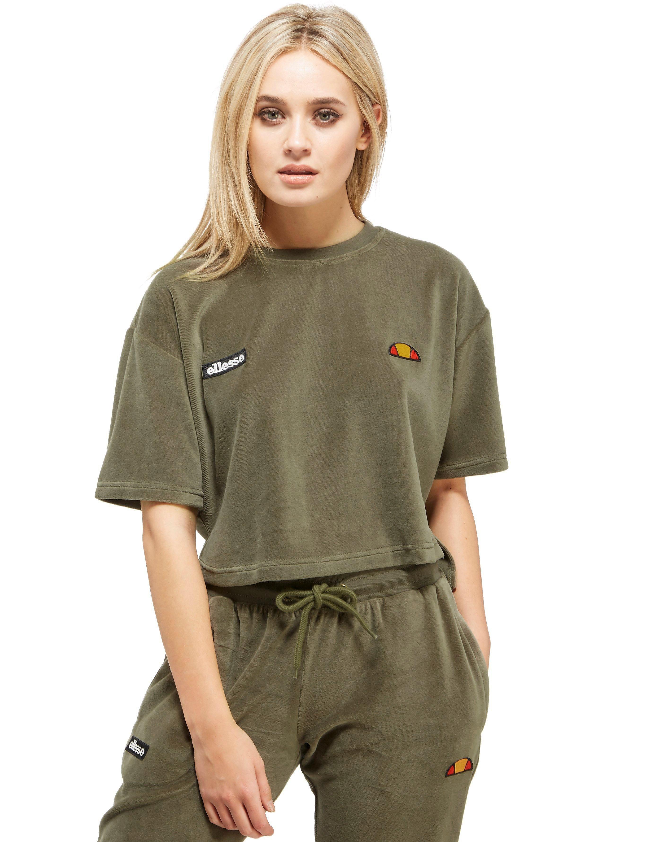 Ellesse Velour Crop T-Shirt