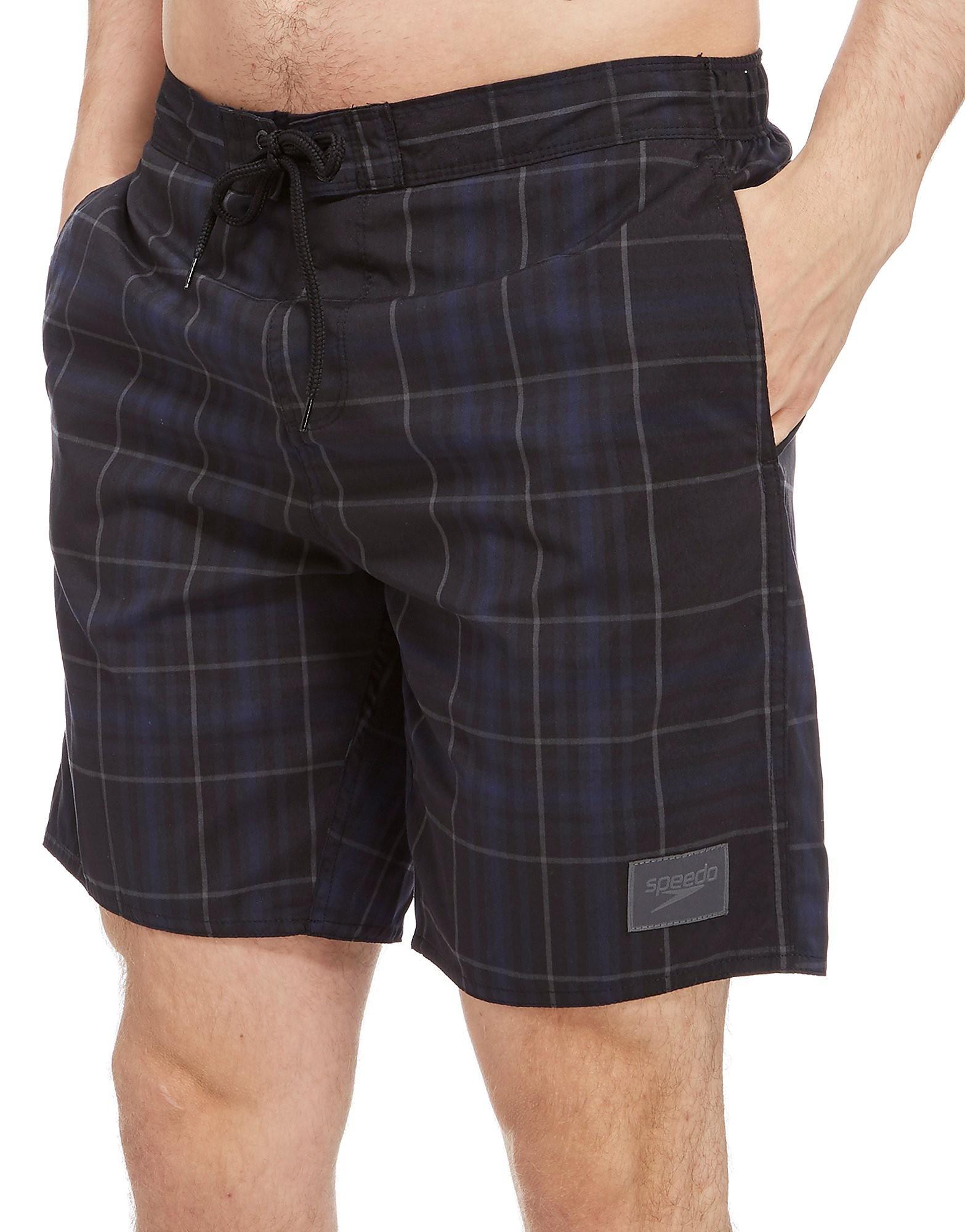 Speedo Check Leisure 18  Swim Shorts - Grey, Grey