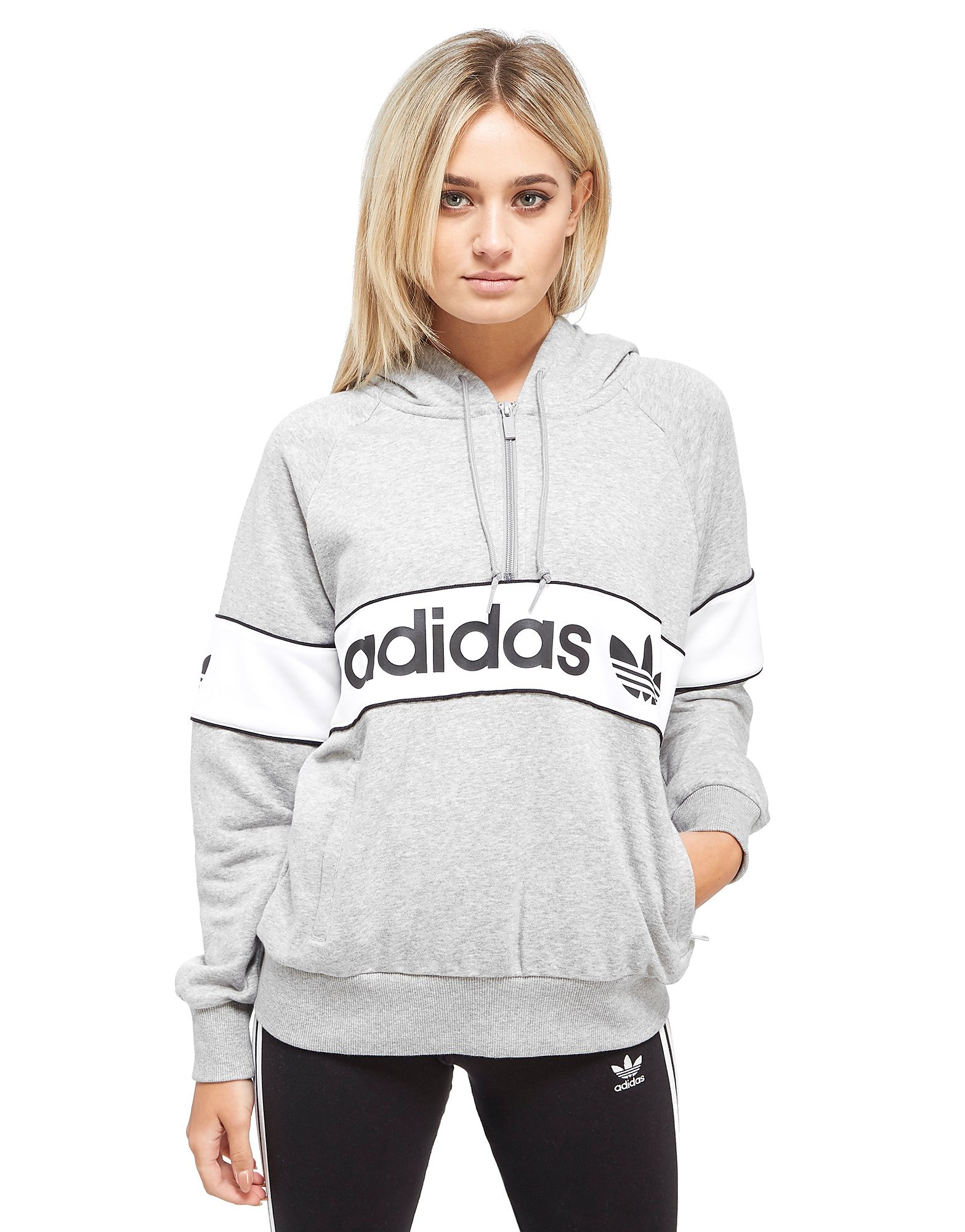 adidas Originals Authentic Half Zip Hoodie