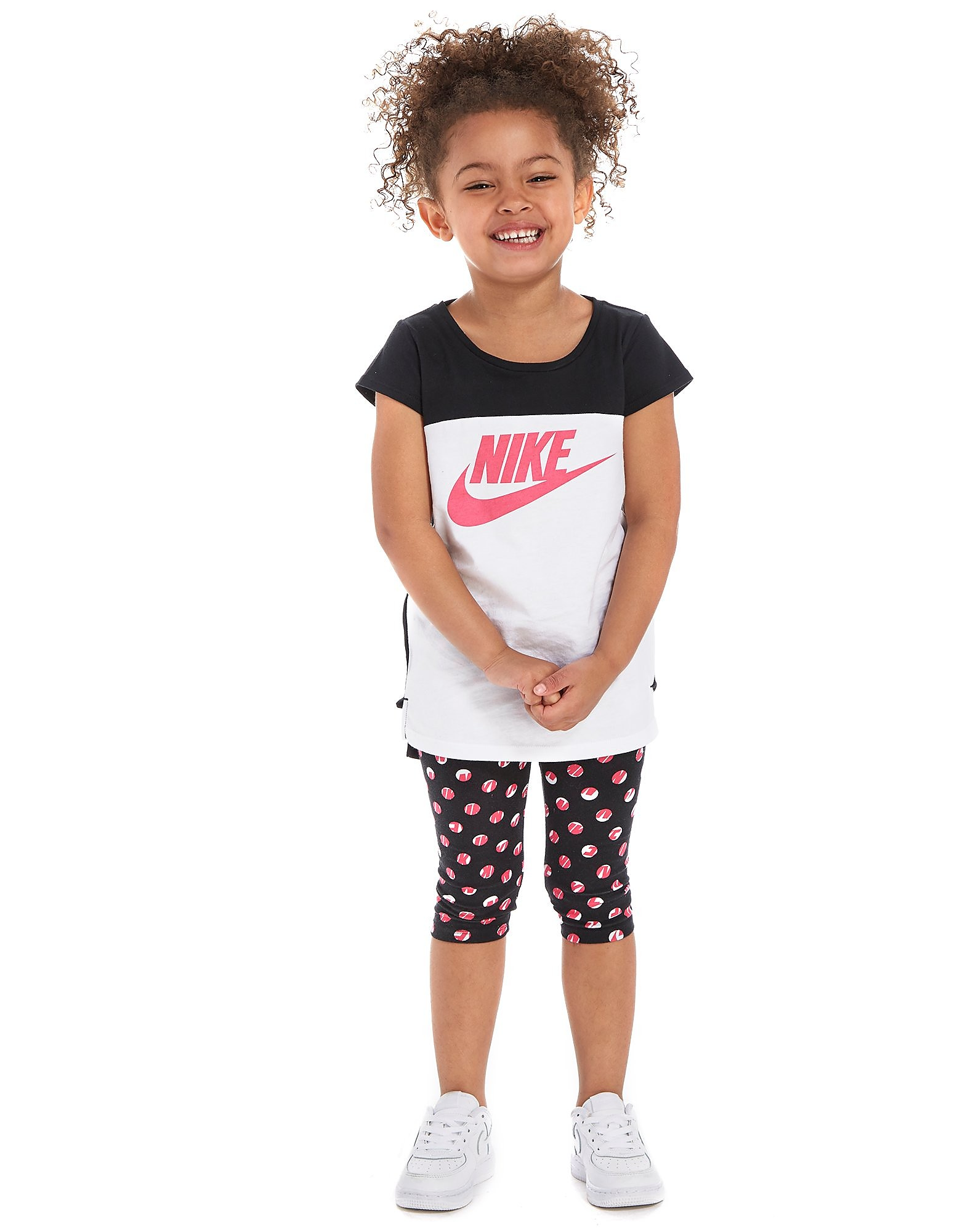 Nike Girls' T-Shirt + Capri Set Children