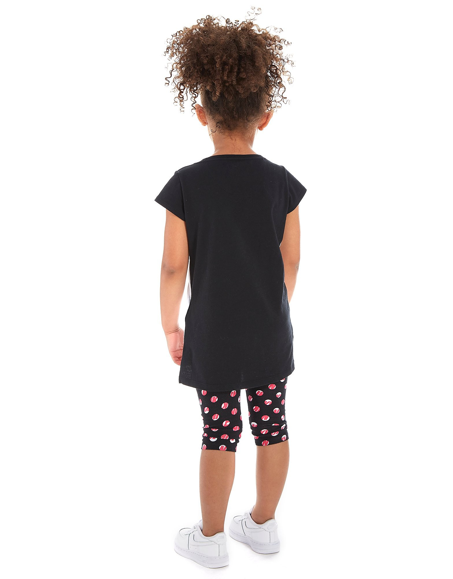Nike conjunto de camiseta y pantalón pirata de niña infantil