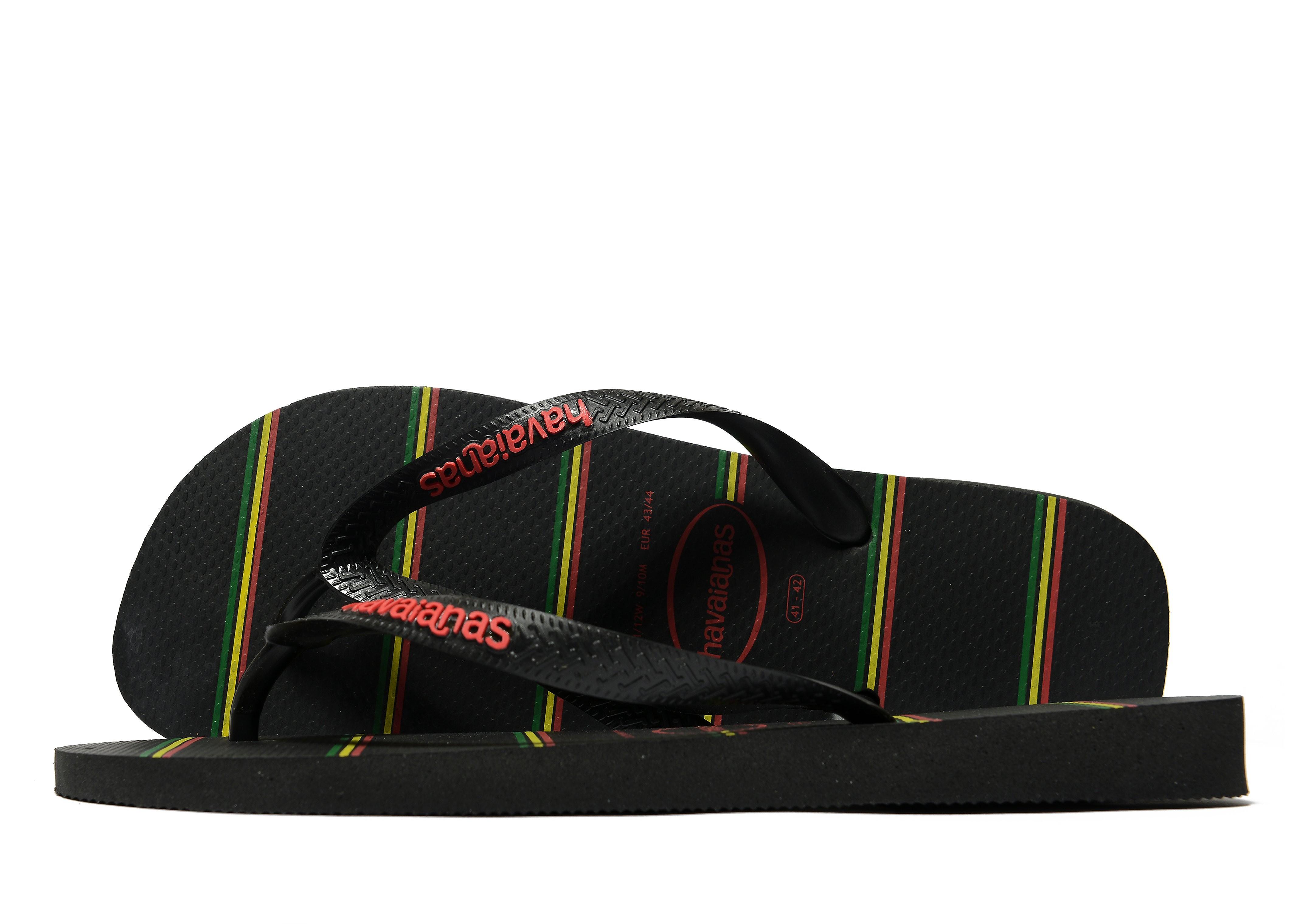 Havaianas Top Stripes Flip Flops - noir/rouge, noir/rouge