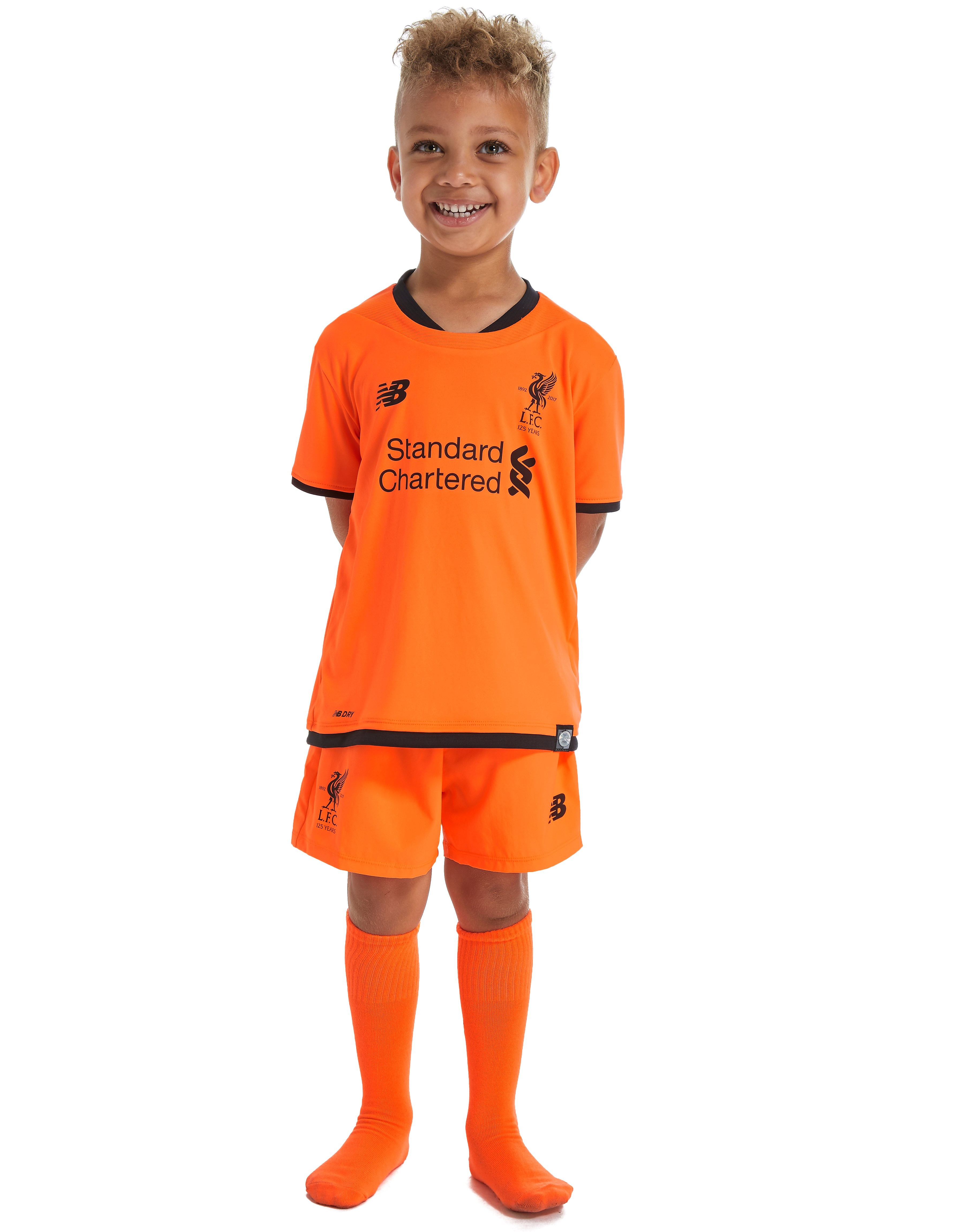 New Balance Liverpool FC 2017/18 Third Kit Children