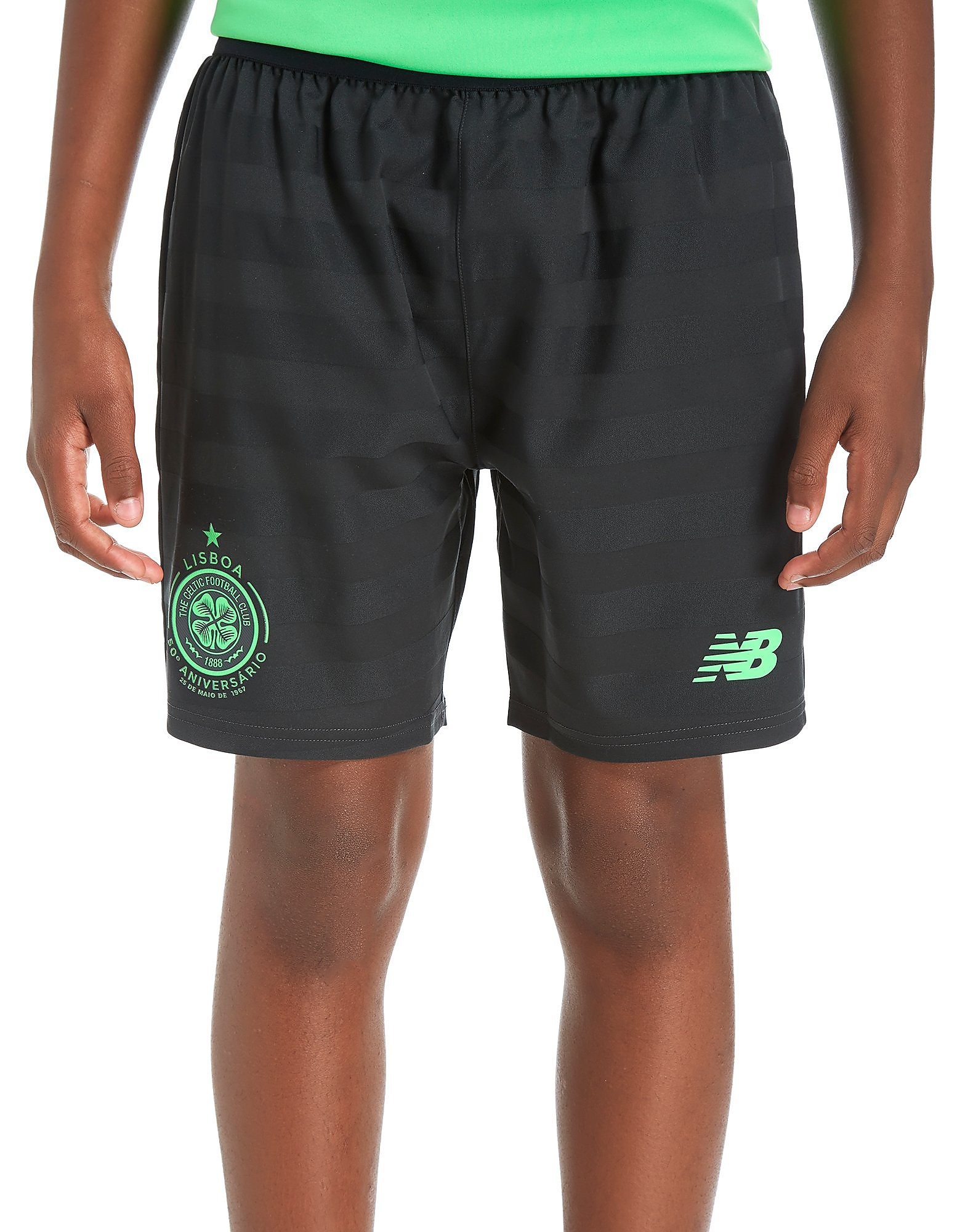 New Balance Celtic 2017/18 Third Shorts Junior