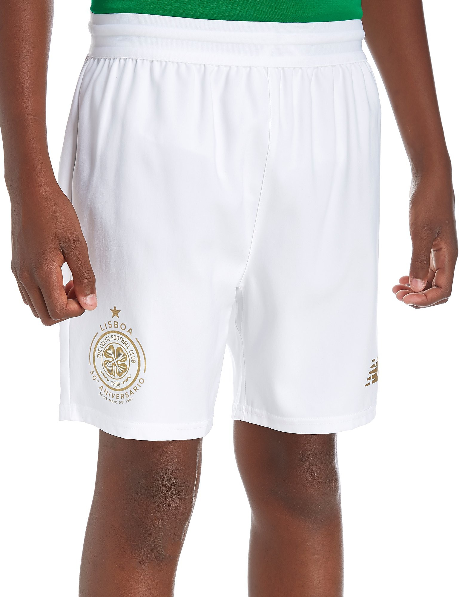 New Balance Celtic FC 2017/18 Home Shorts Junior
