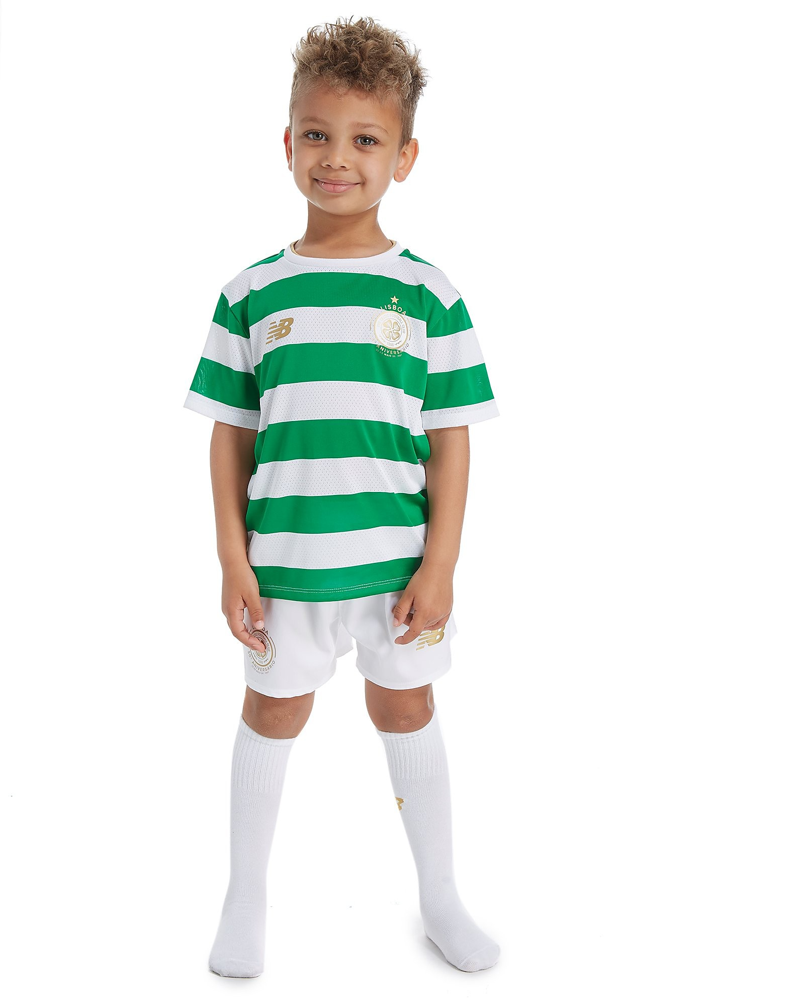 New Balance conjunto Celtic FC 2017/18 1.ª equipación infantil