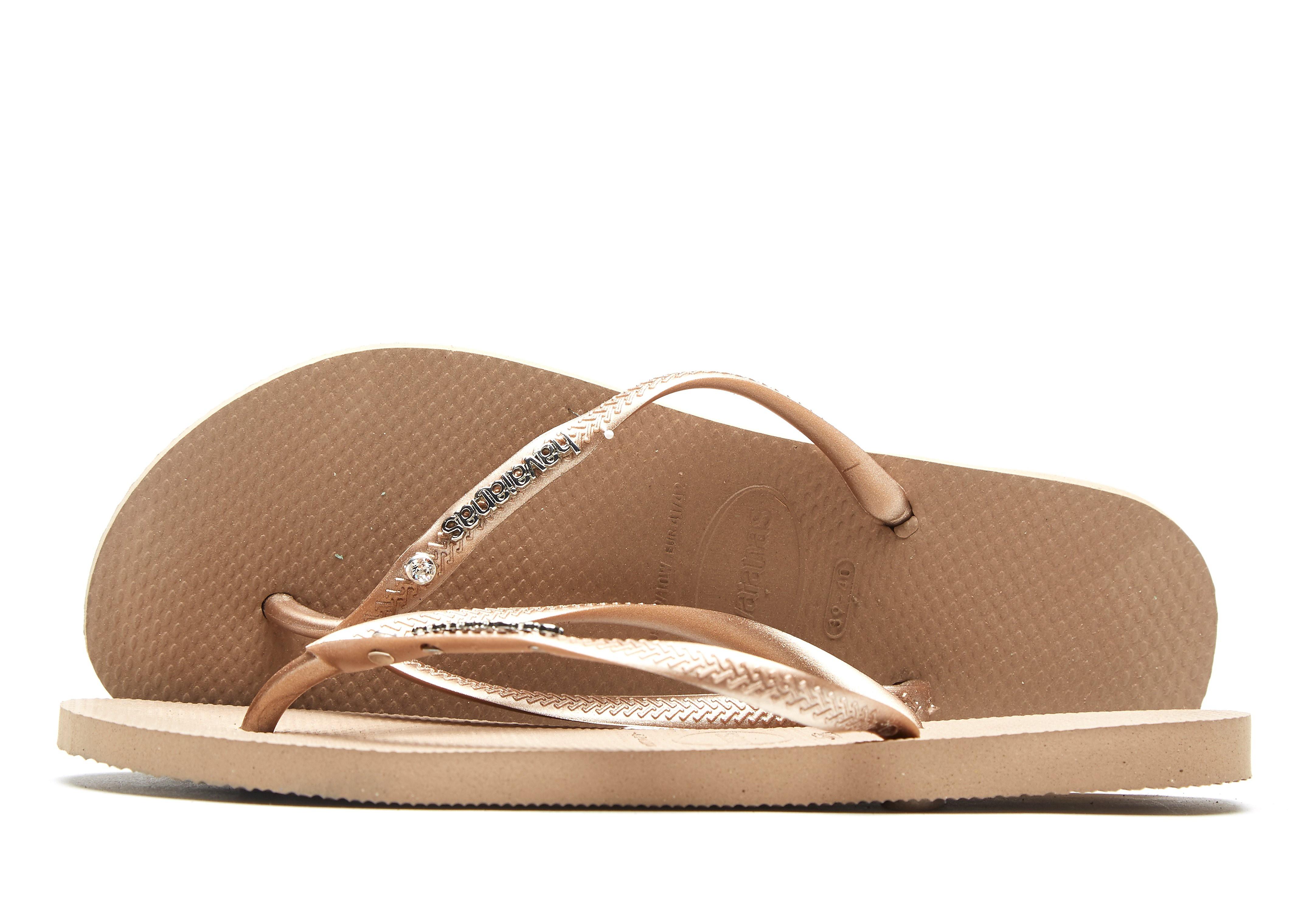 Havaianas Slim Crystal Flip Flops Dames