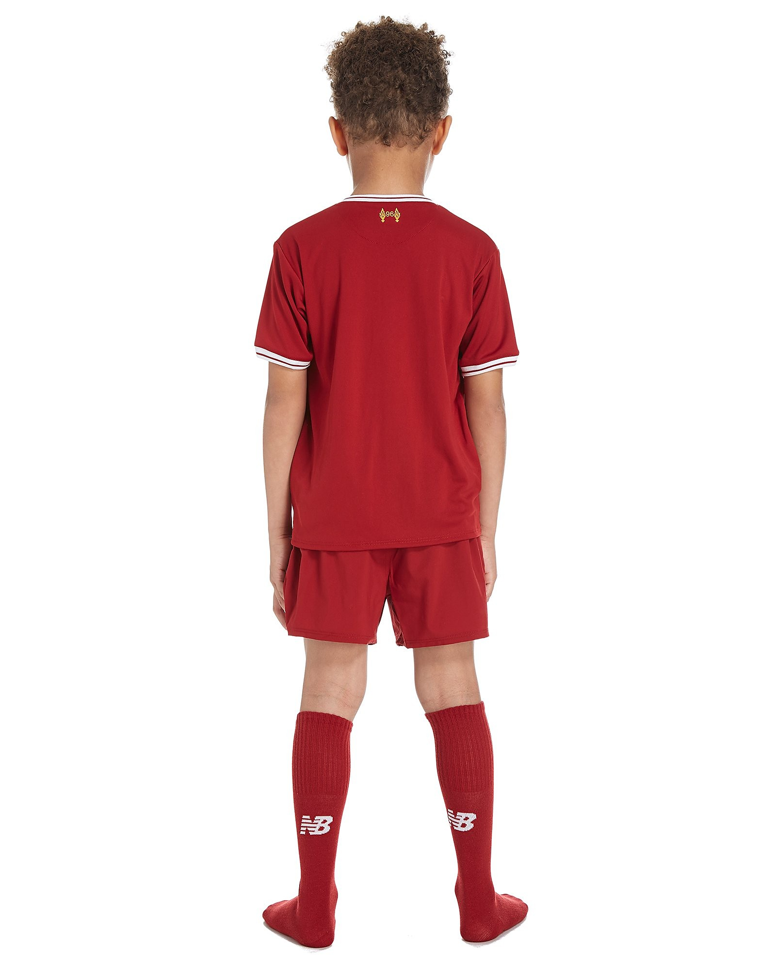 New Balance Liverpool FC 2017/18 Home Kit Bambino