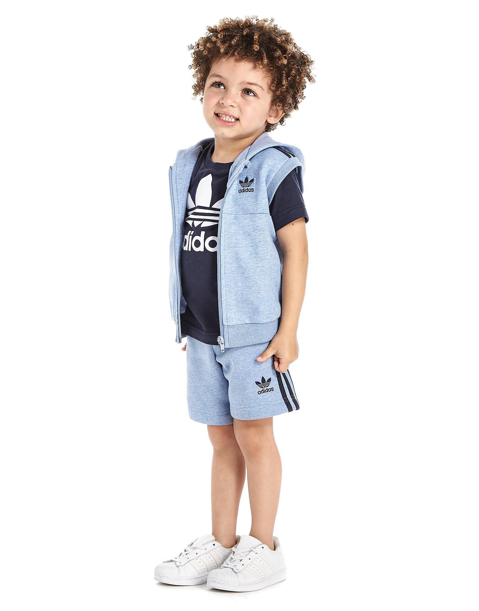 adidas Originals Dreiteiliger ärmelloser Trainingsanzug für Babys