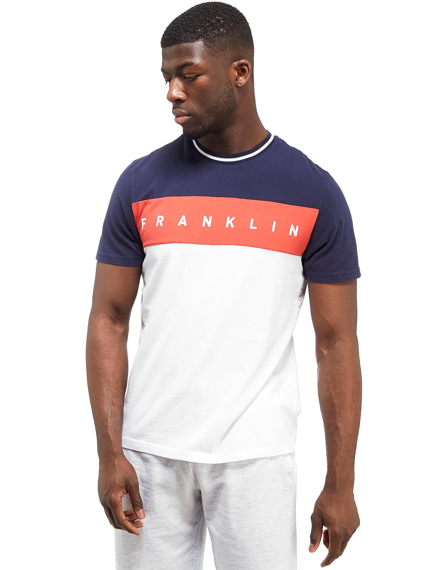 Franklin & Marshall Tipped Colour Block T-Shirt