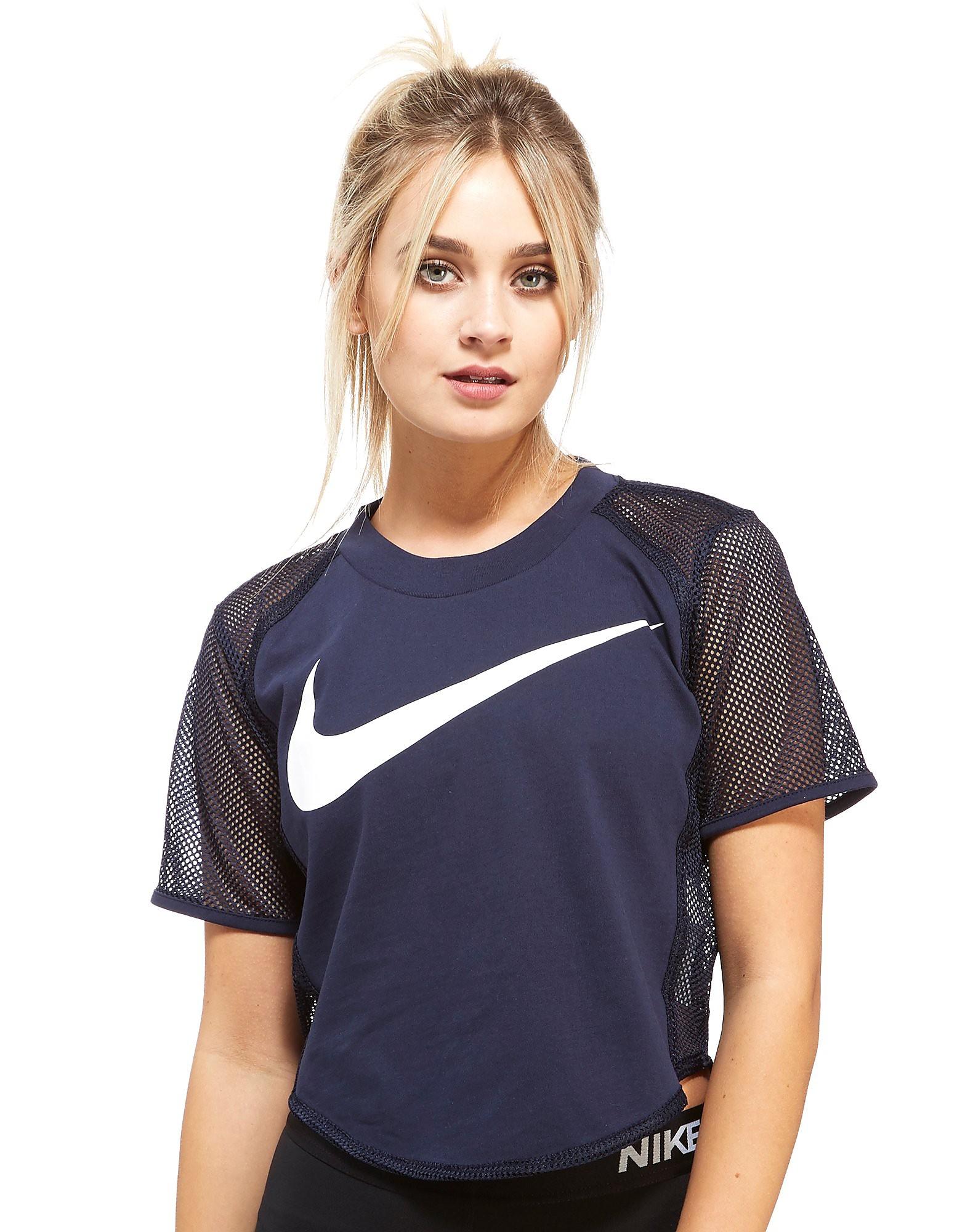Nike Mesh Swoosh Crop T-Shirt