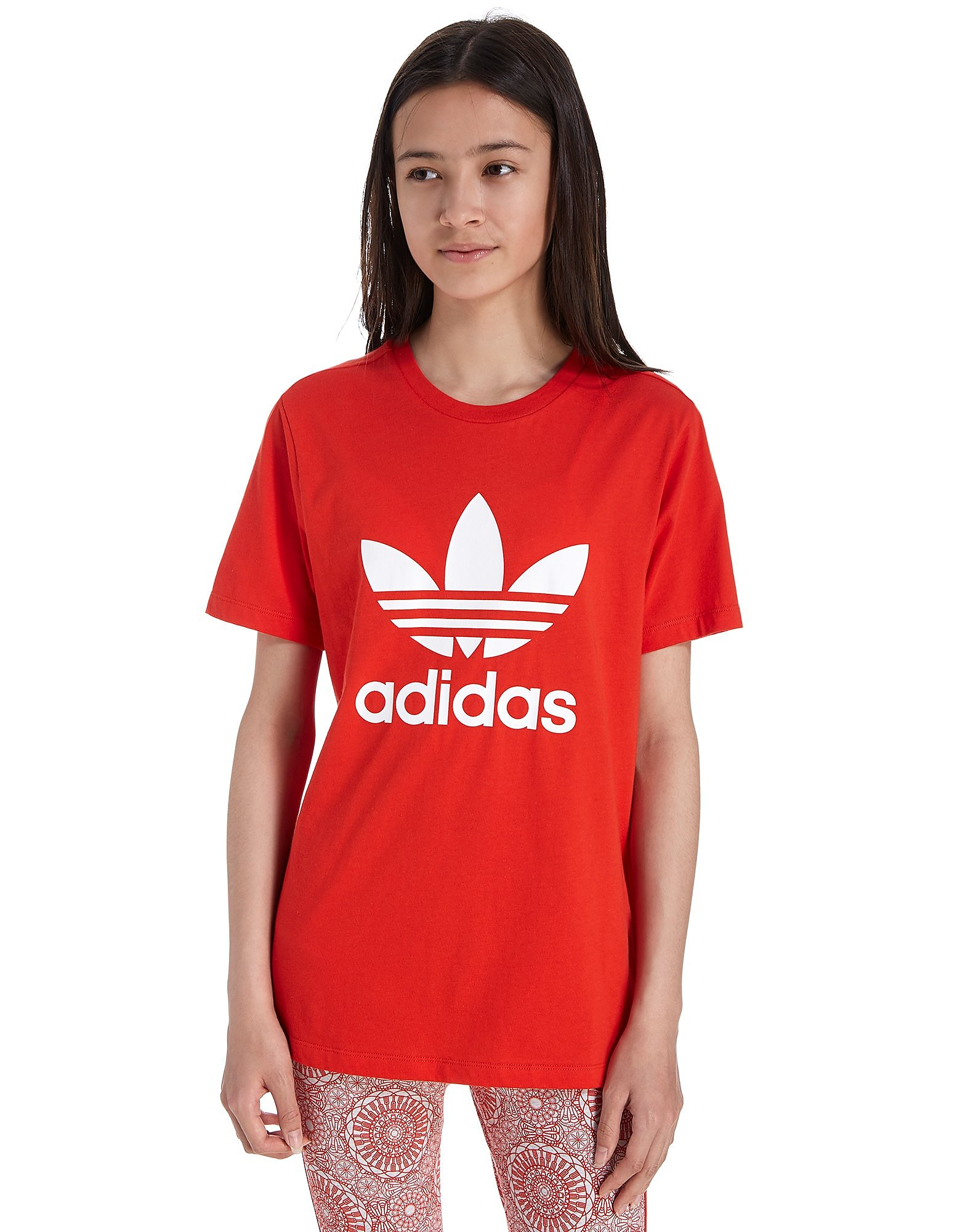 adidas Originals Girls' Trefoil Boyfriend T-Shirt Junior