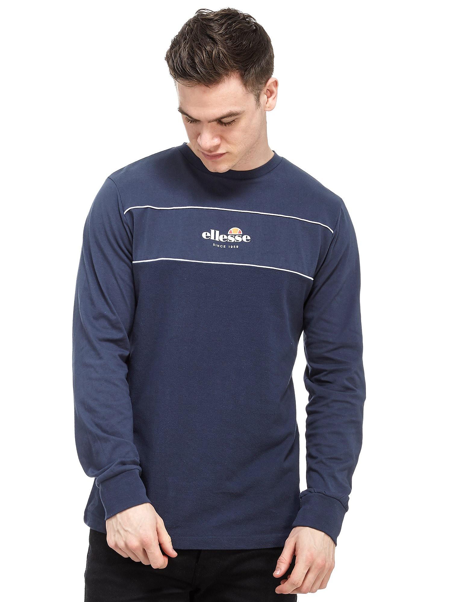 Ellesse Cannavaro Panel Long Sleeve T-Shirt