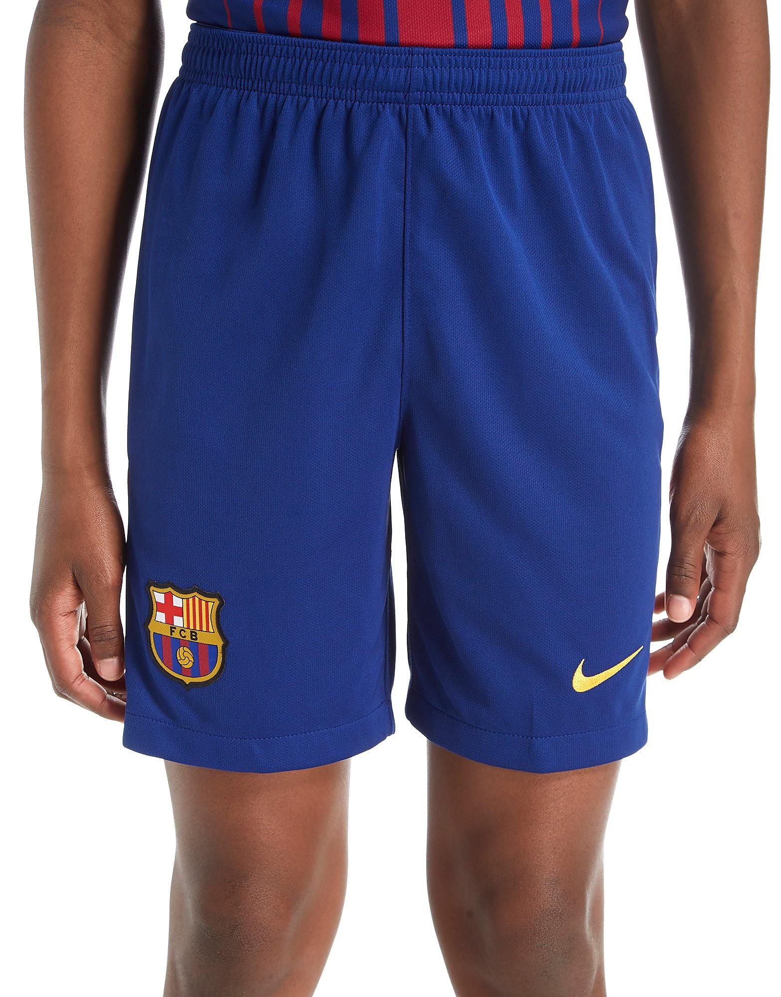 Nike Barcelona 2017/18 Home Shorts Junior