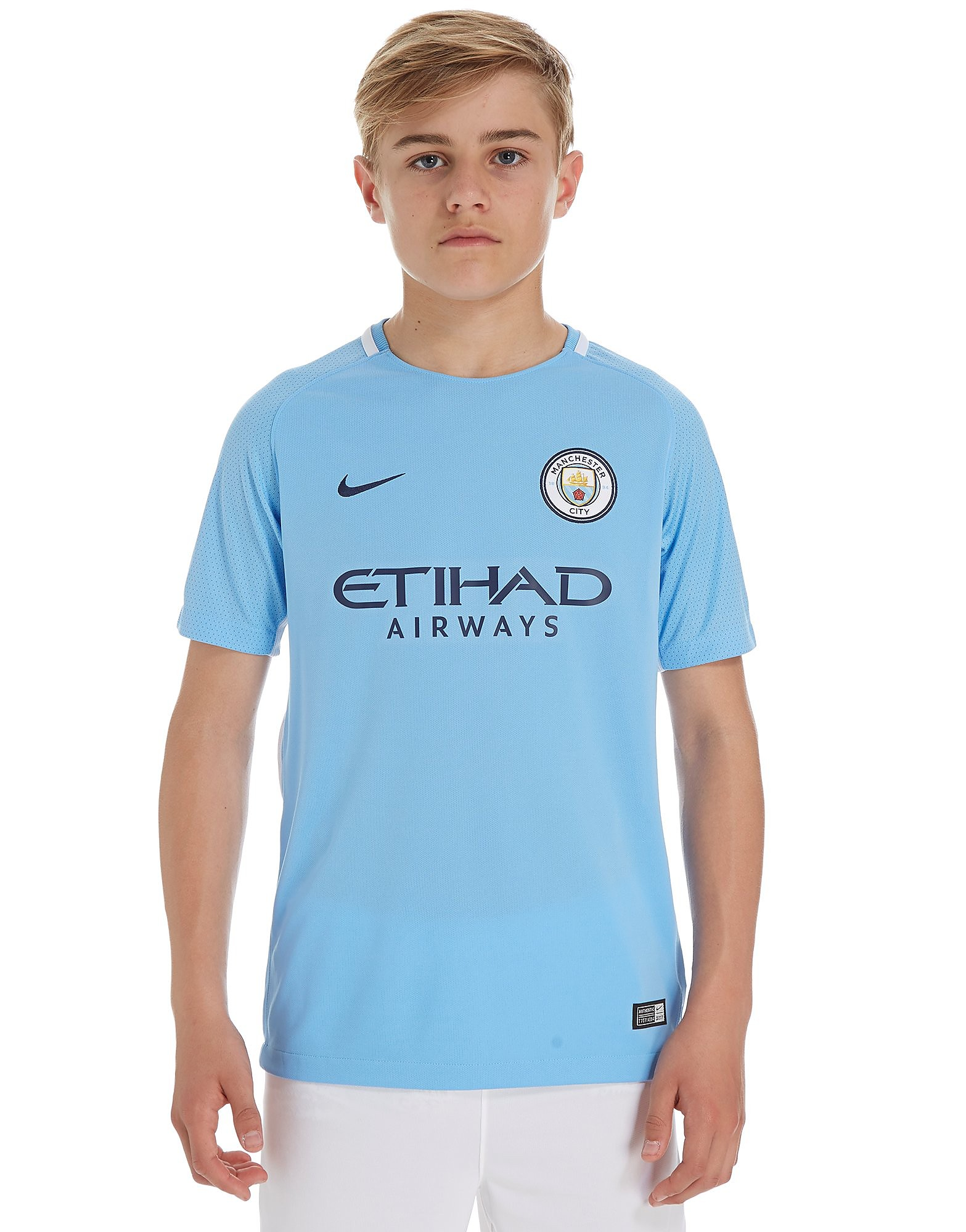 Nike Manchester City 2017/18 Home Shirt Junior - Blauw - Kind