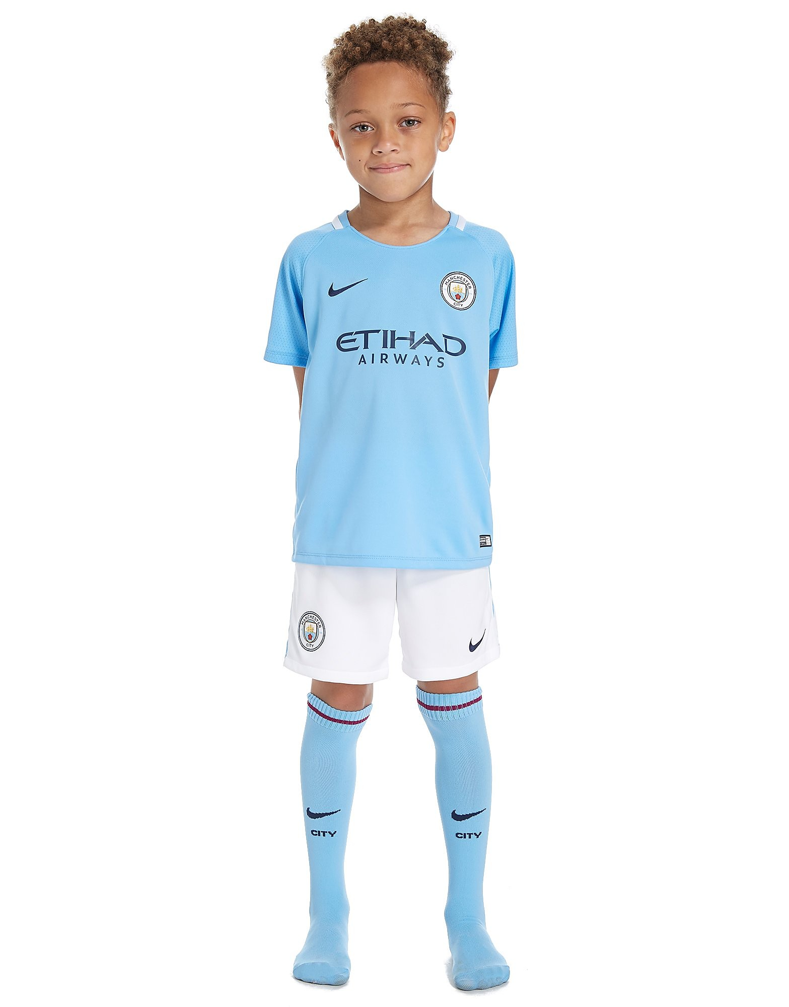 Nike Manchester City 2017/18 Home Kit Children