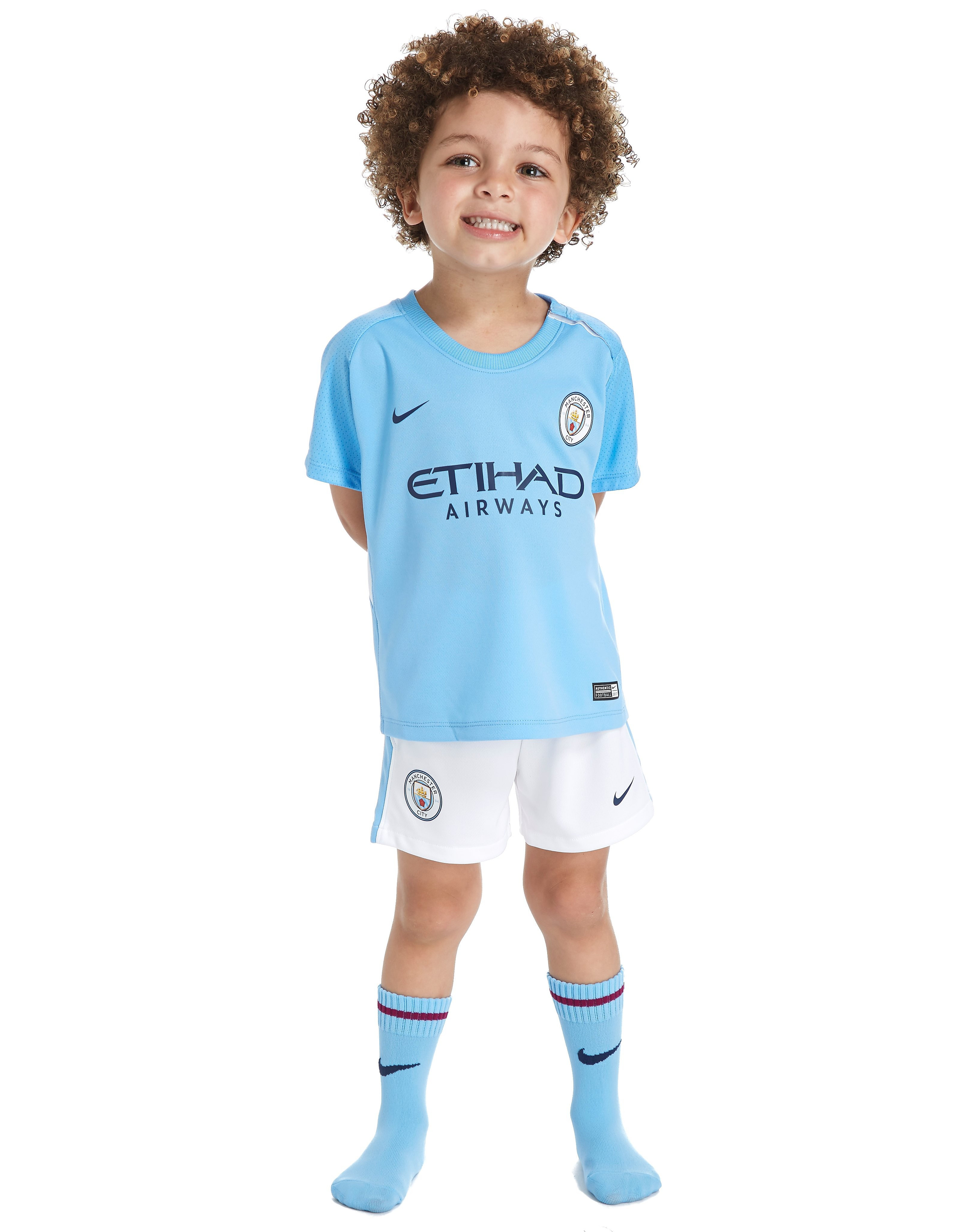Nike Manchester City FC 2017/18 Home Kit Infant