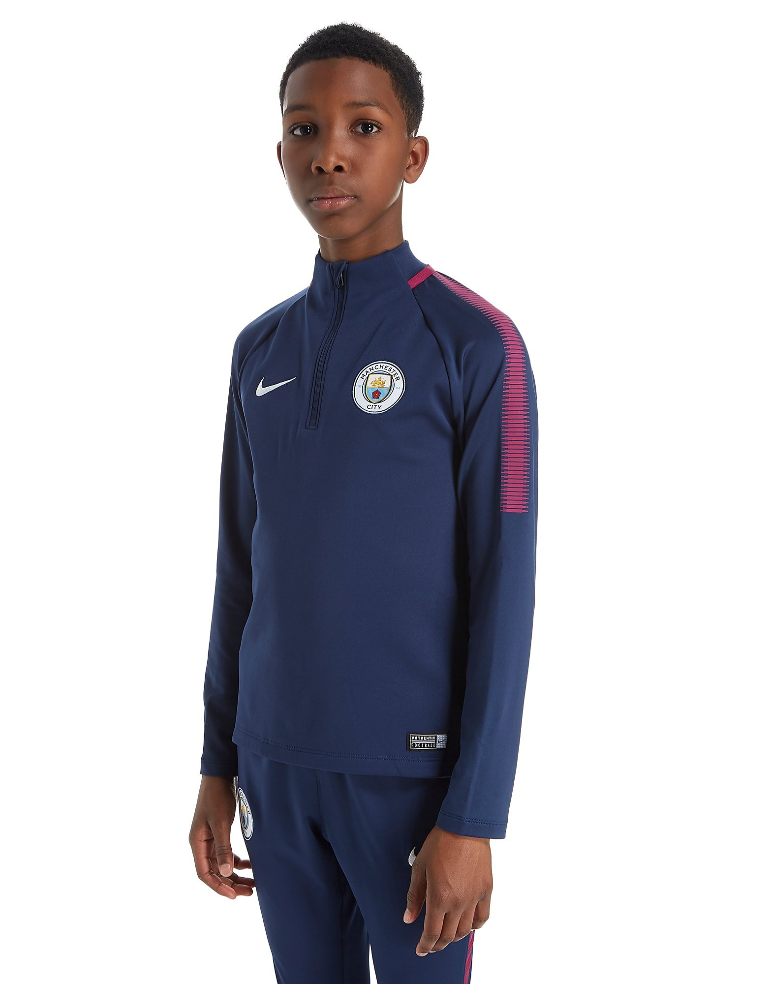 Nike Manchester City FC 2017/18 Squad Drill Top Junior