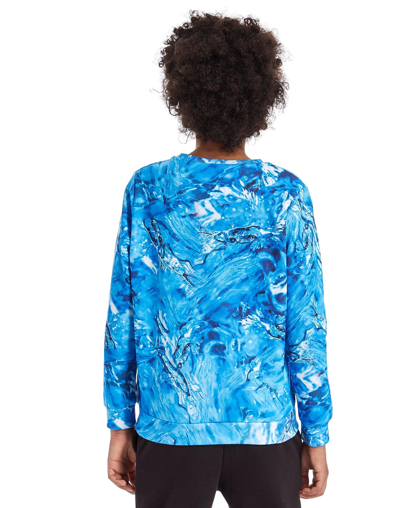 Hype Teal Splash Crew Sweatshirt Junior