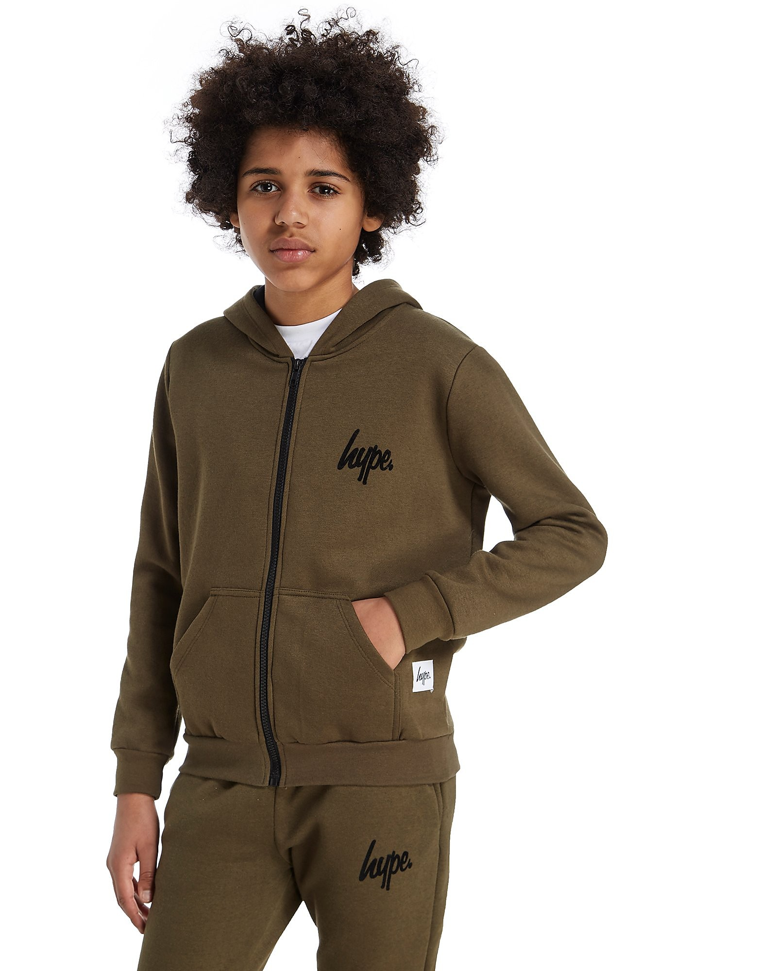 Hype Flock Zipped Hoody Junior