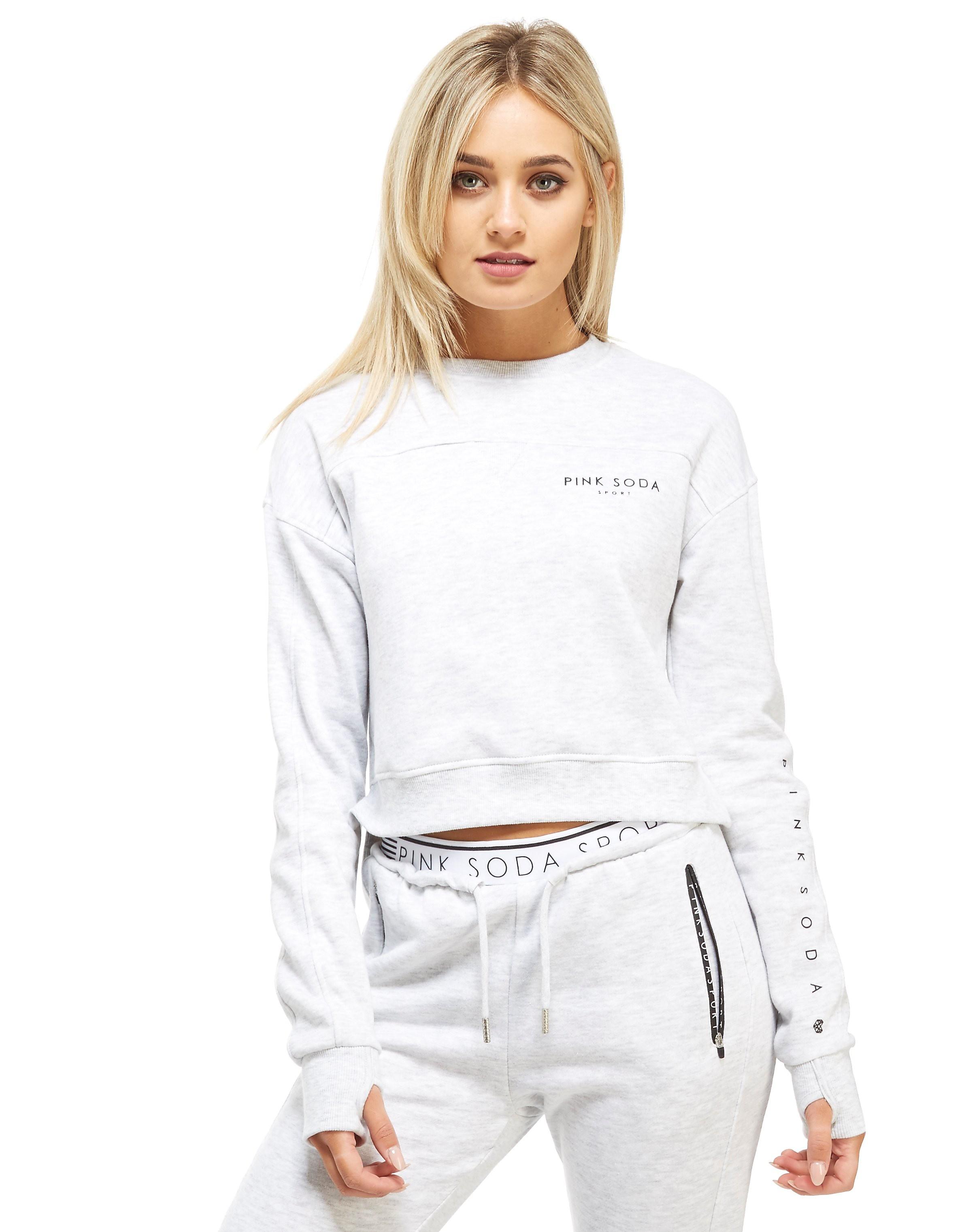 Pink Soda Sport Drop Hem Crew Sweatshirt