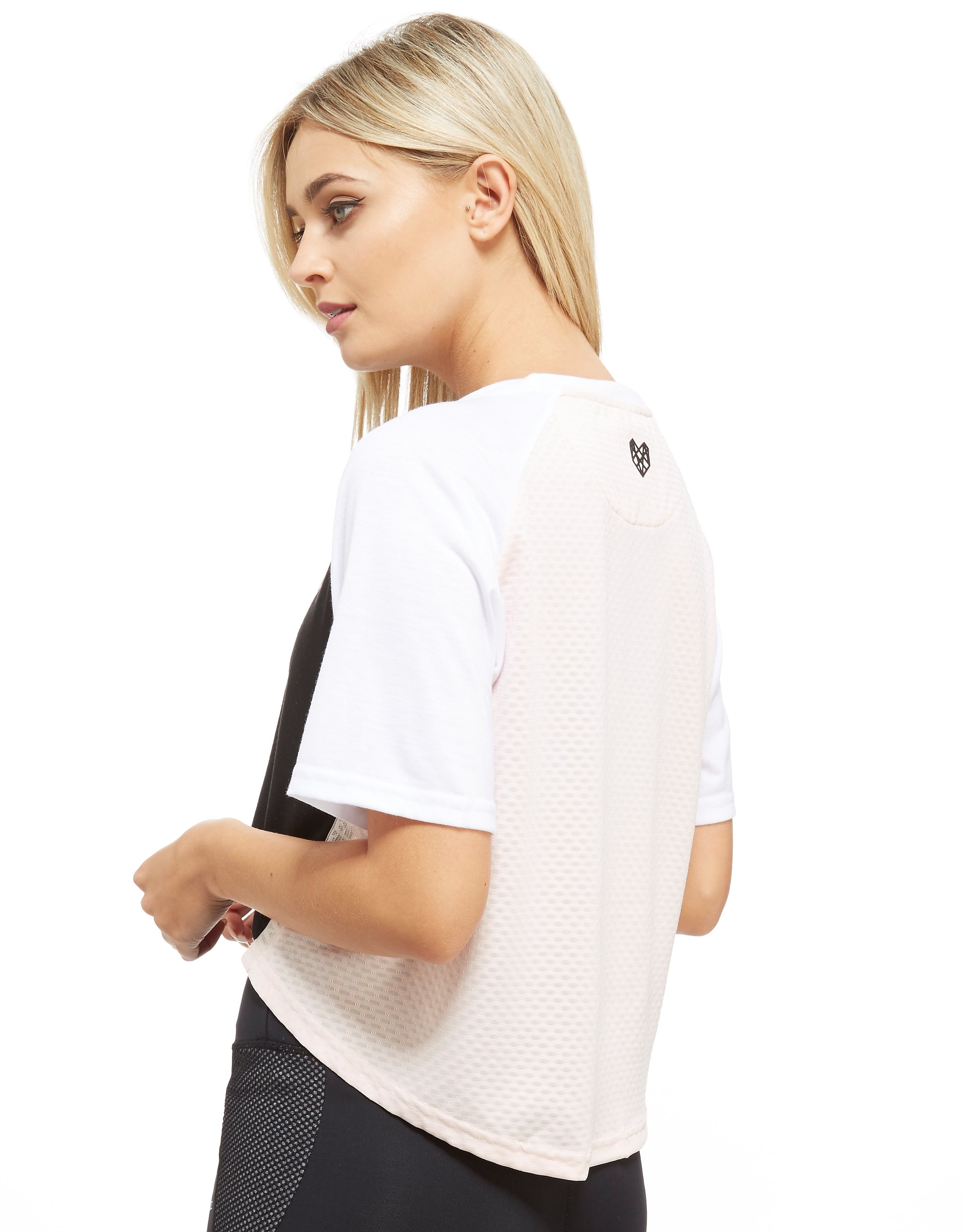 Pink Soda Sport Logo Embroidery Mesh T-Shirt