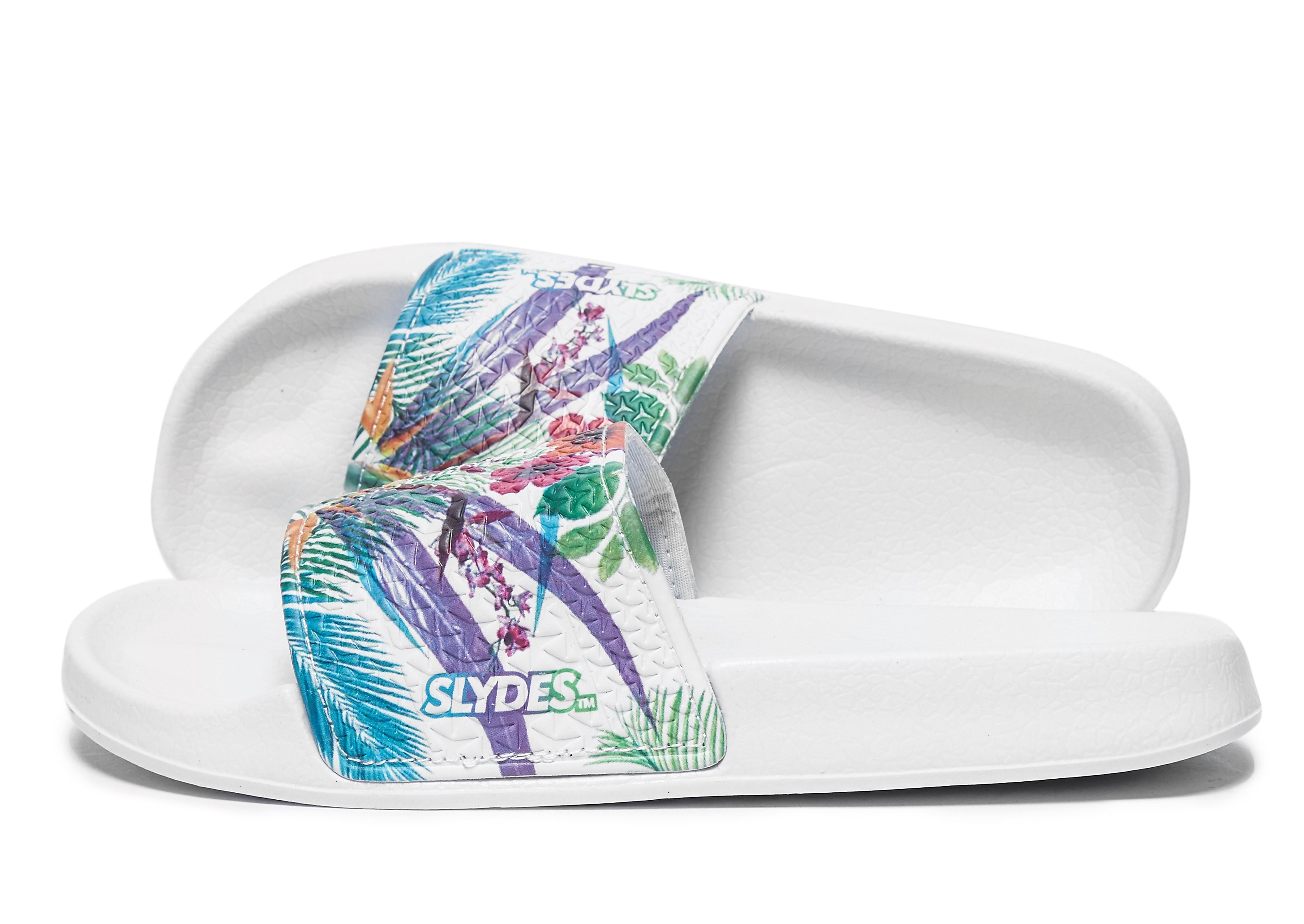 Slydes Slides mit Tropical-Print für Damen