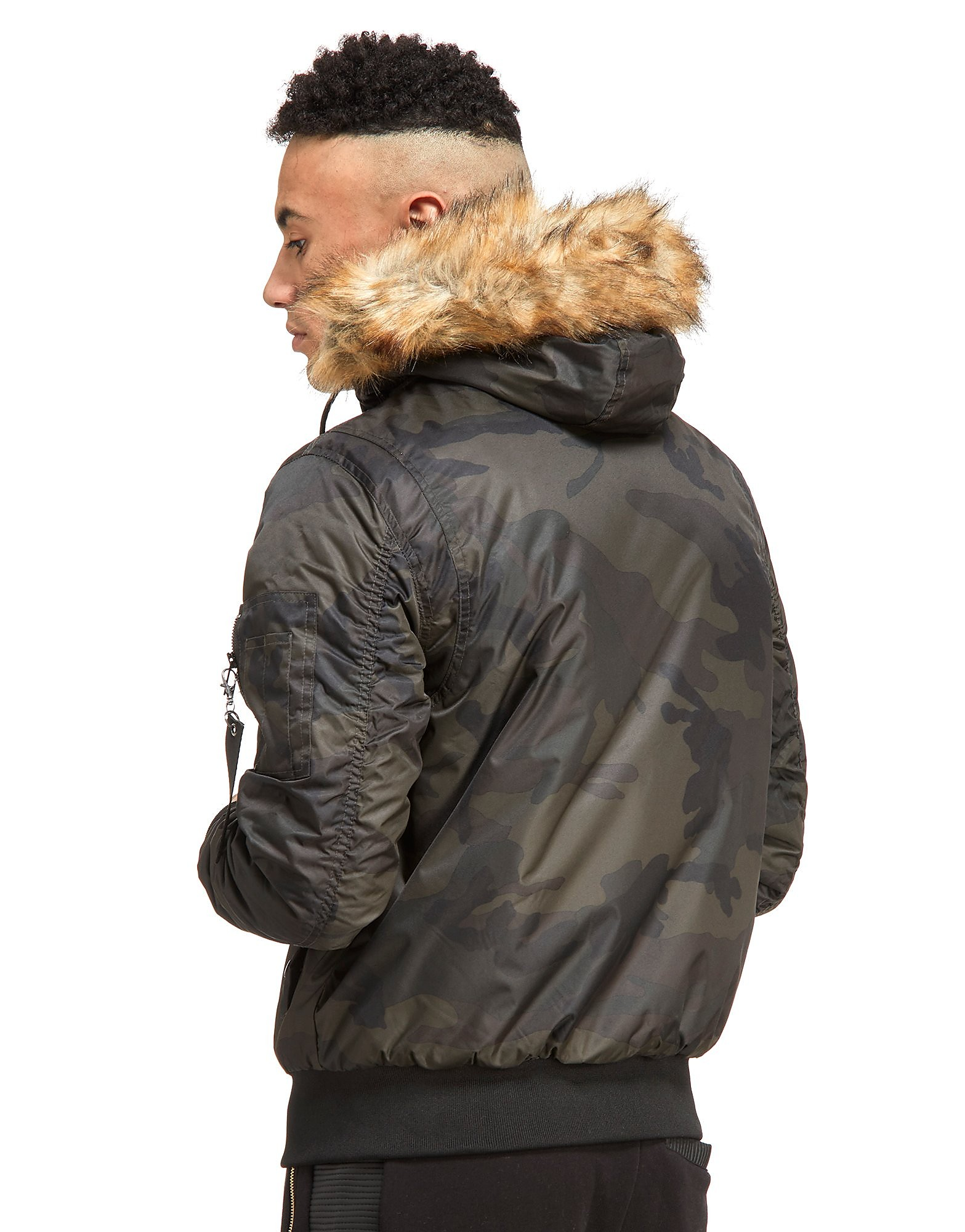 SikSilk Everest Hooded Bomber Jacket