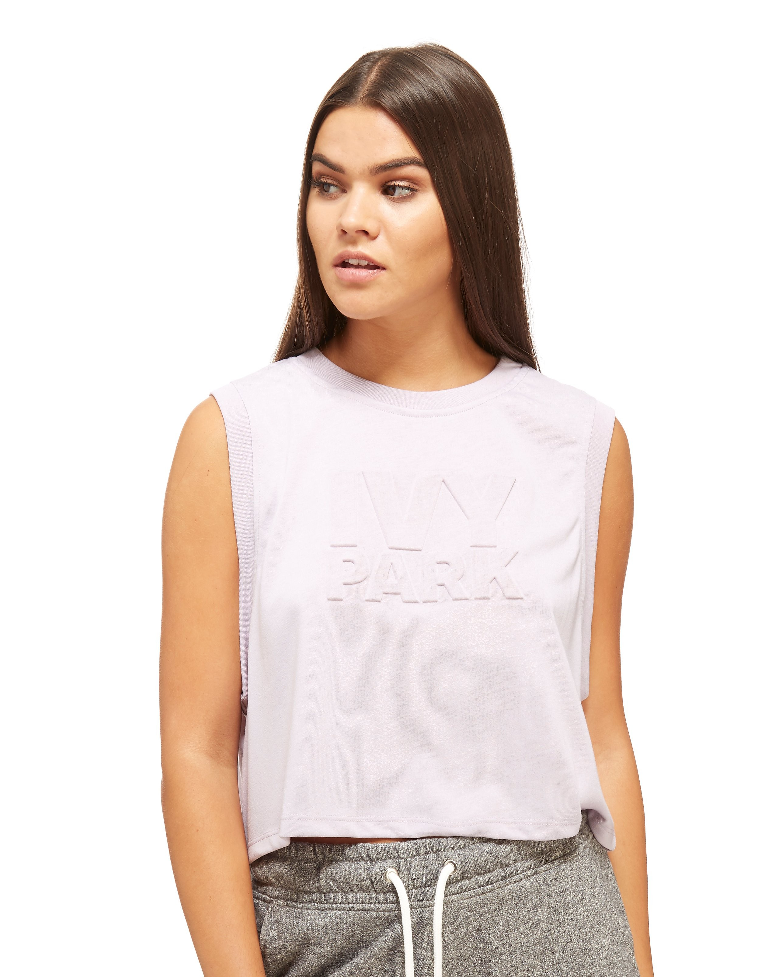 IVY PARK Embossed Crop Tank