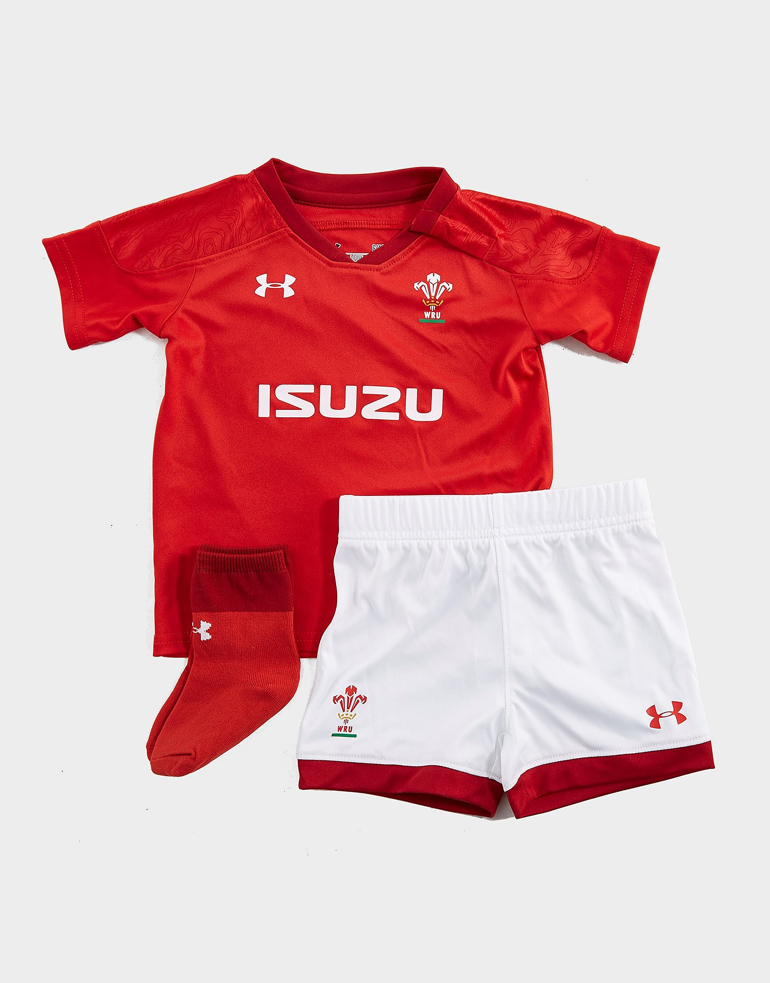 Under Armour Wales RU 2017/18 Kit Baby's - Rood - Kind