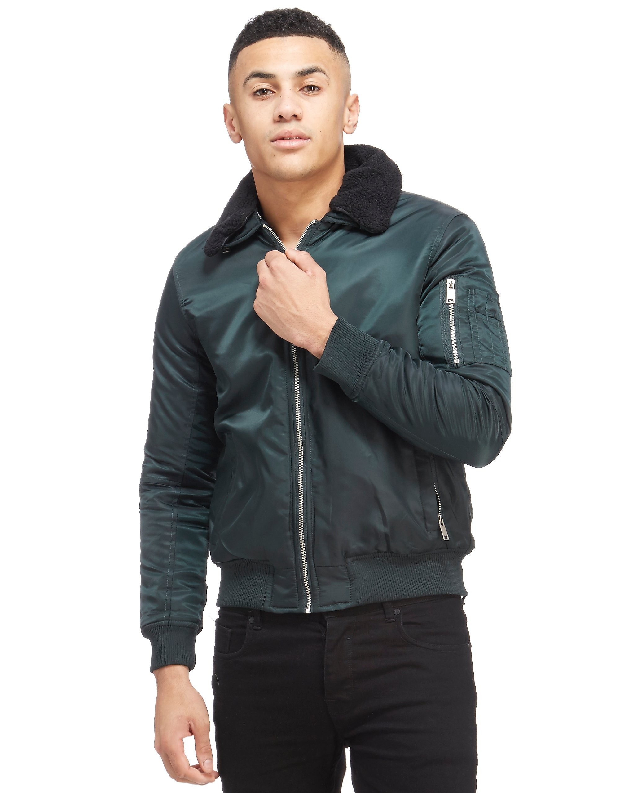 Supply & Demand Collared Bomber Jacket