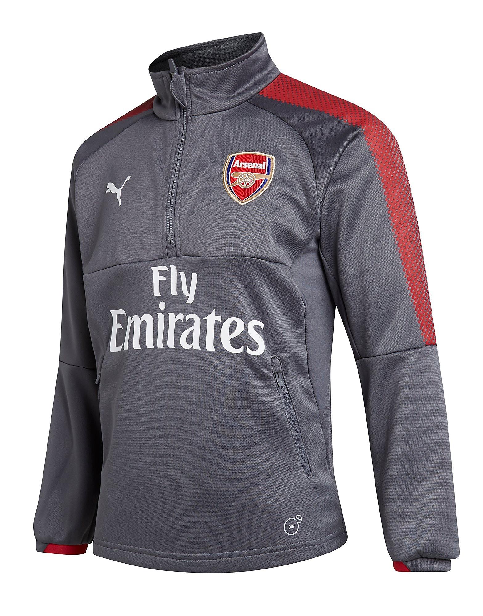 PUMA Arsenal 2017 Quarter Zip Training Top Junior