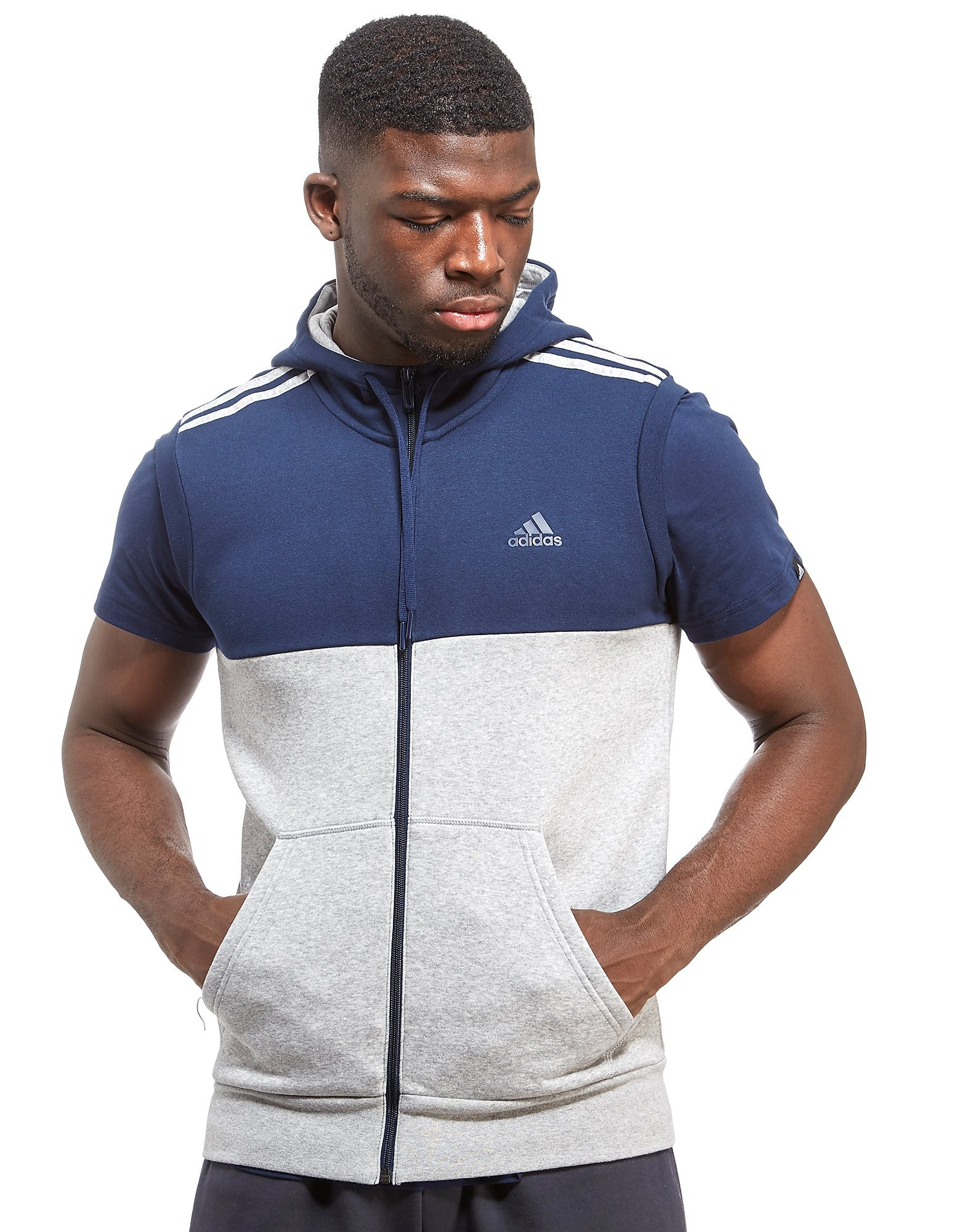 adidas Linear Sleeveless Hoodie