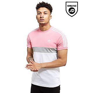 camiseta adidas hombre rosa