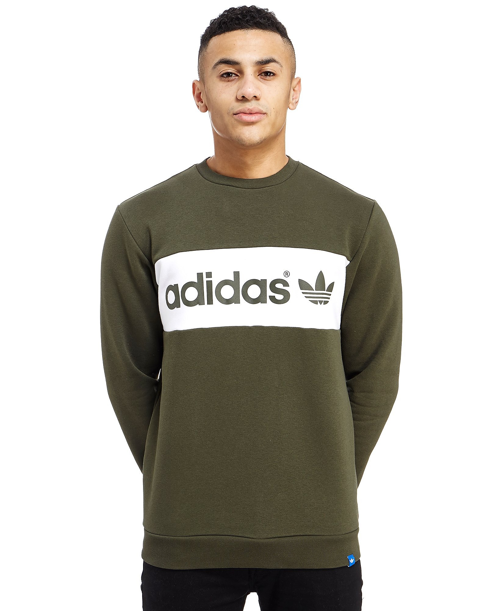 adidas Originals Linear Colour Block Crew Sweatshirt