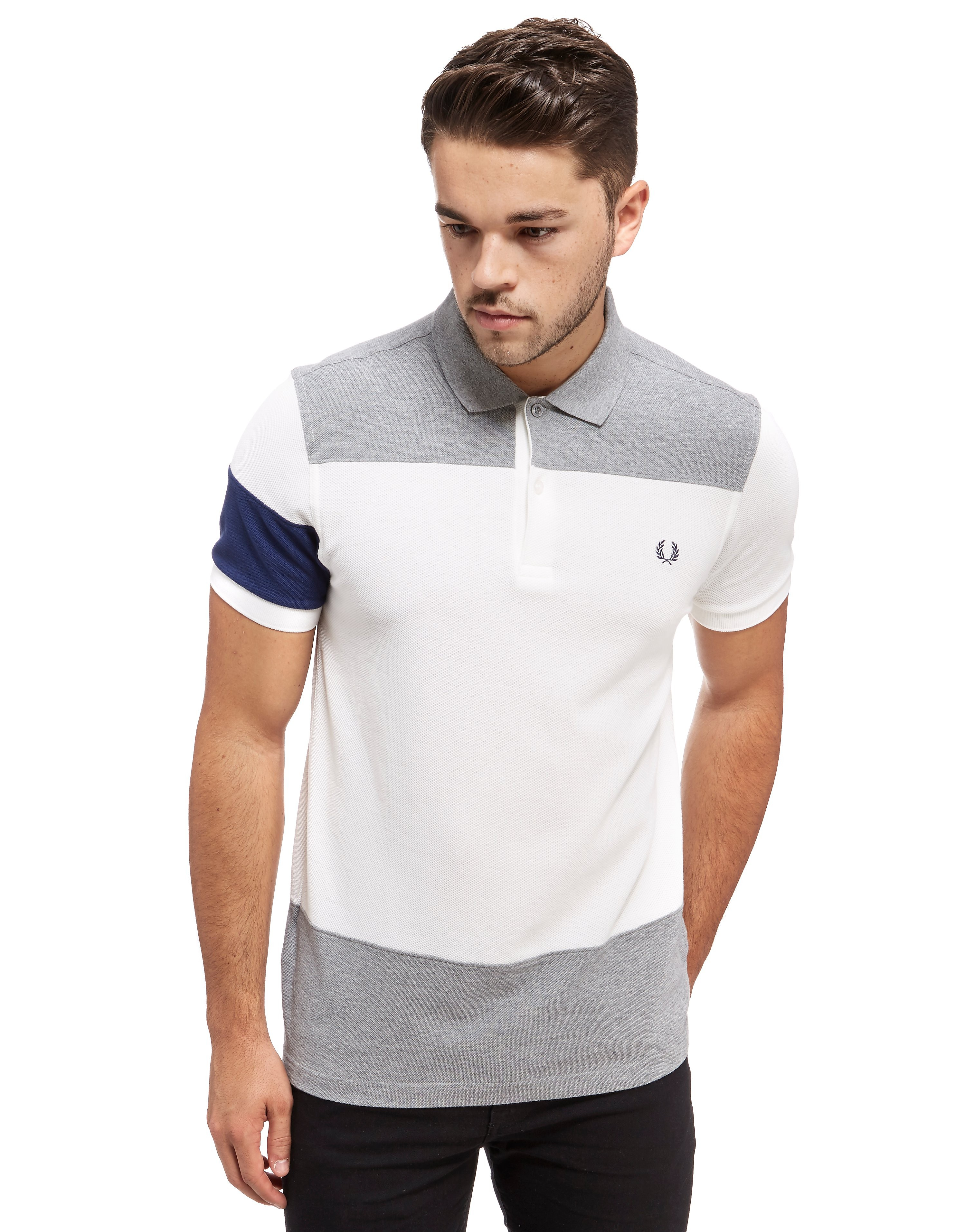 Fred Perry Block Panel Pique Polo Shirt