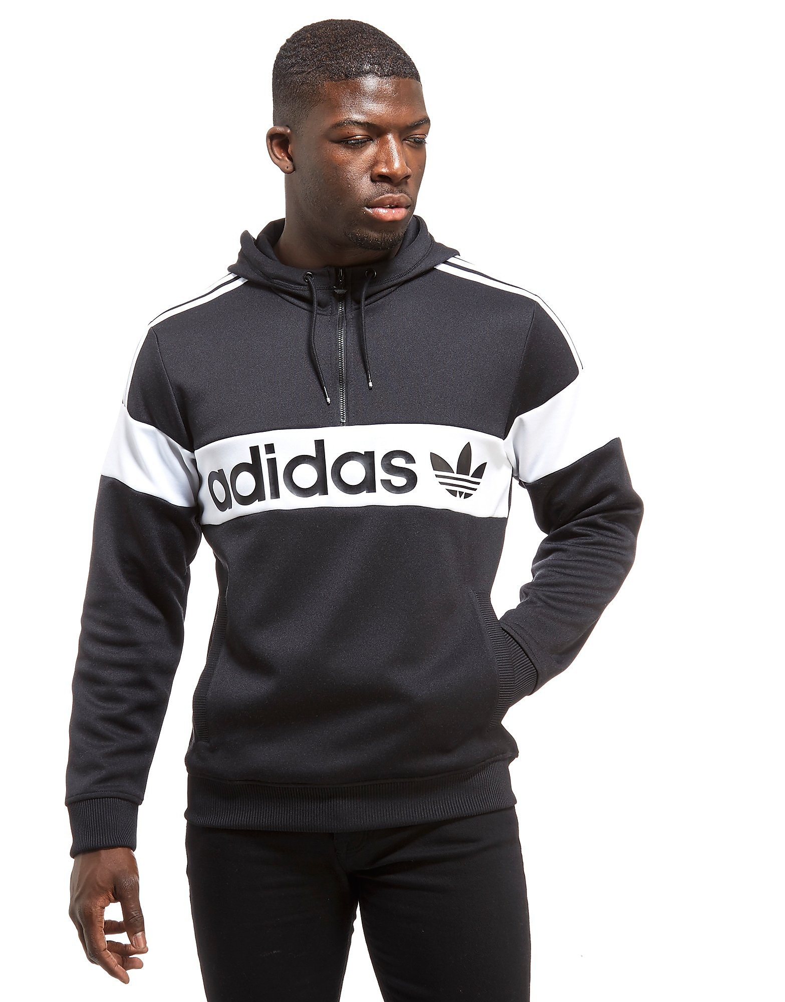 adidas Originals Sweat à capuche 1/2 Zip Homme